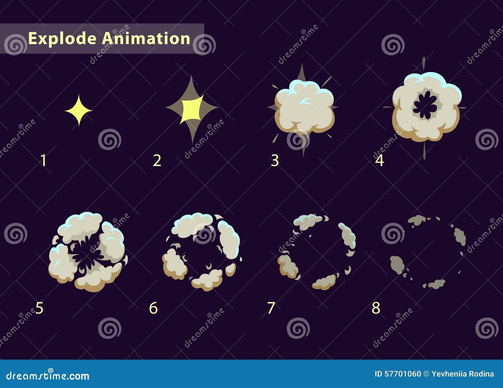 Exploda a animação do efeito