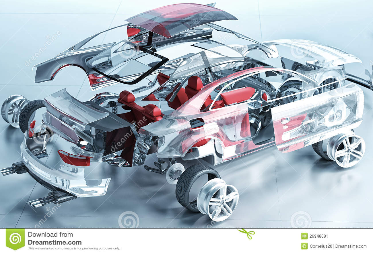 Car 3d Diagram Opinions About Wiring Engine Diagrams Exploded Transparent Stock Illustration Of Small 26948081 Under