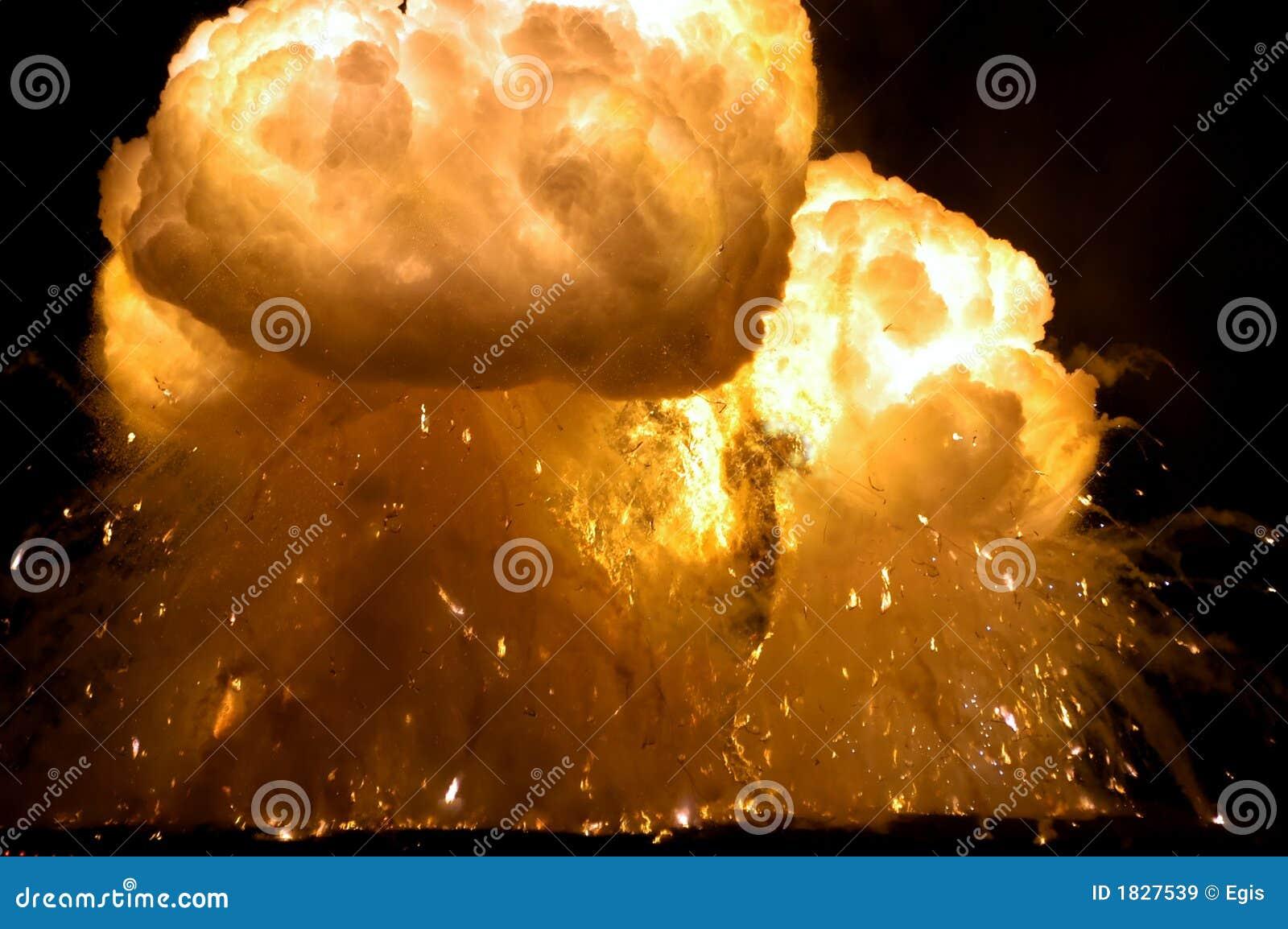 Exploderar brand