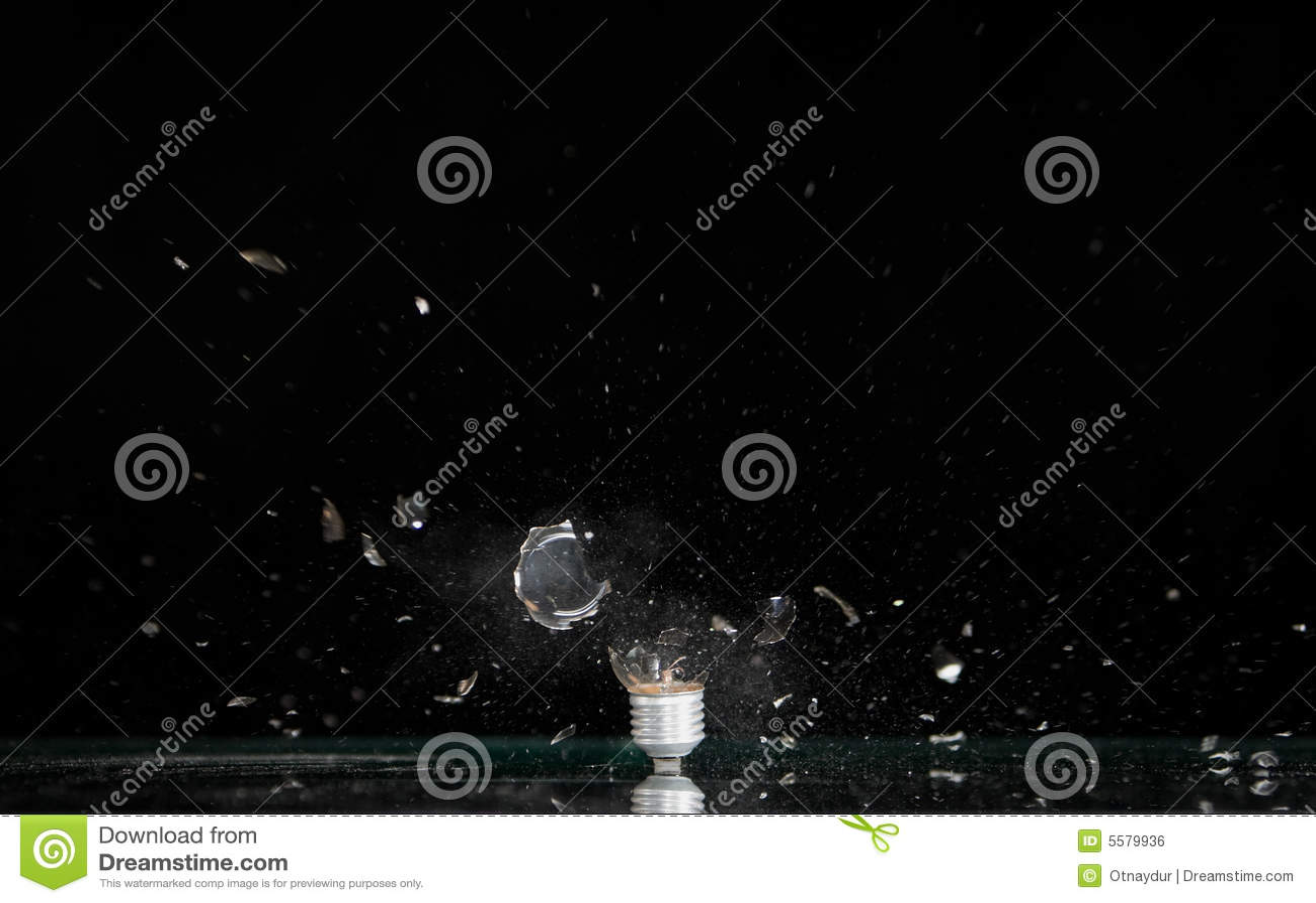 Explodierender Lampenfühler