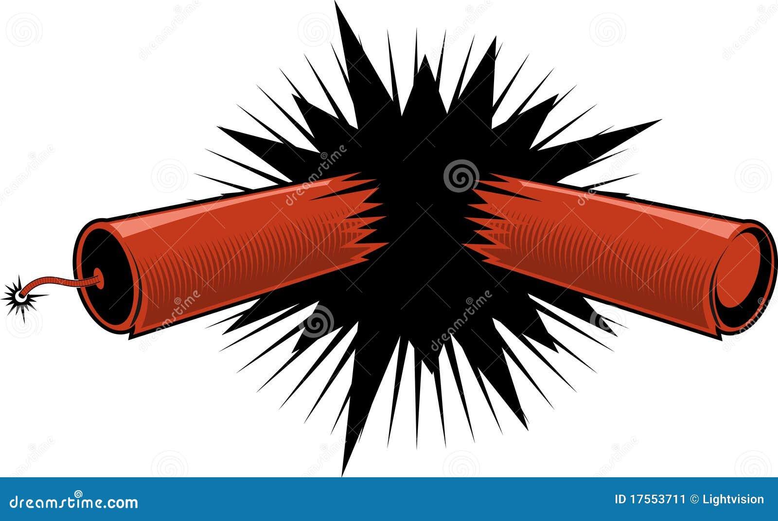 exploding dynamite  firecracker stock vector Cartoon Firecracker Firecracker Clip Art