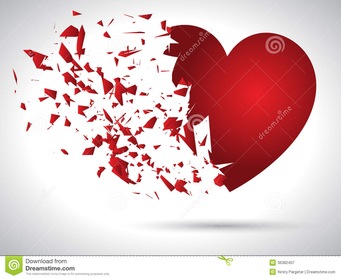 Exploding Heart Royalty Free Stock Photography - Image: 36382407