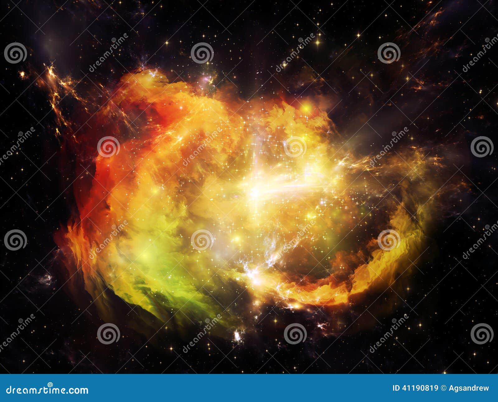Exploding Nebula Stock Photo - Image: 41190819