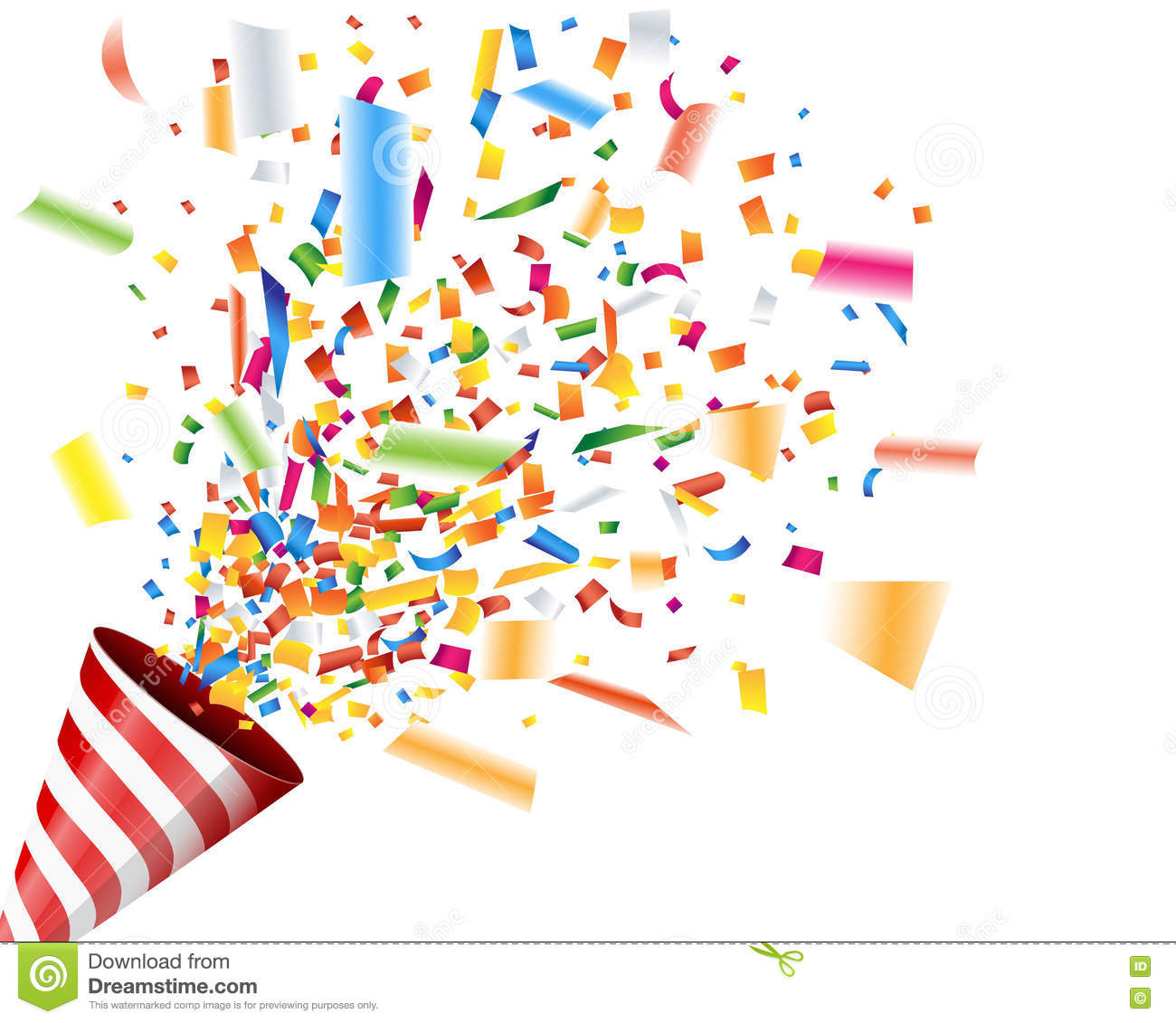 Exploding Party Popper With Confetti Stock Vector ...