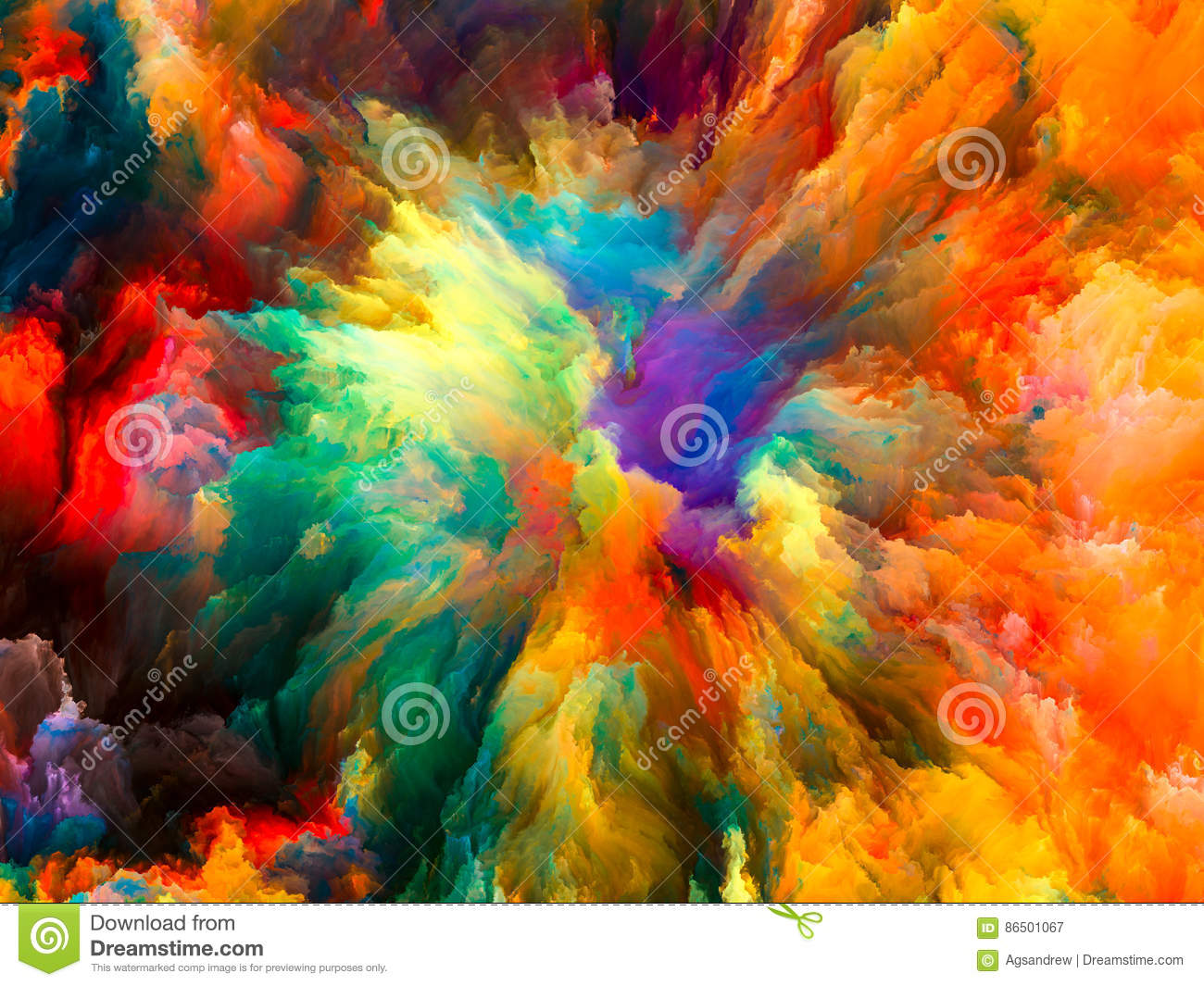 exploding surreal paint stock illustration illustration of painting