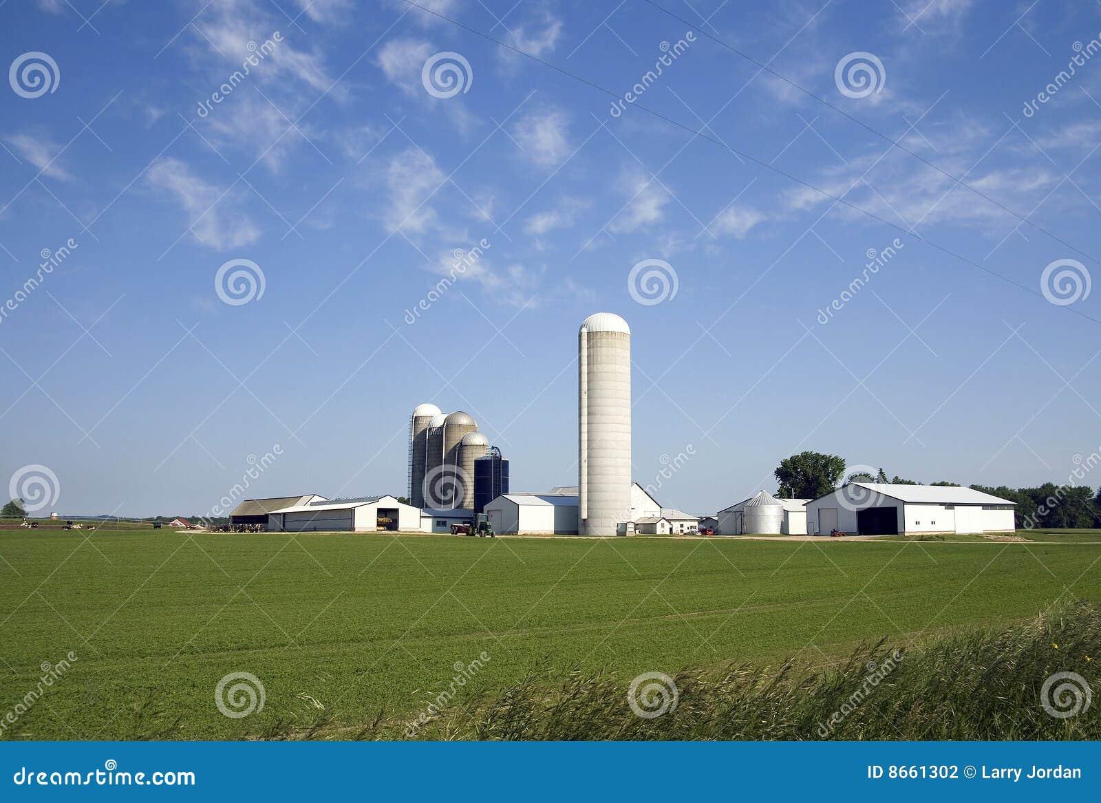 Exploitation laitière de Midwest