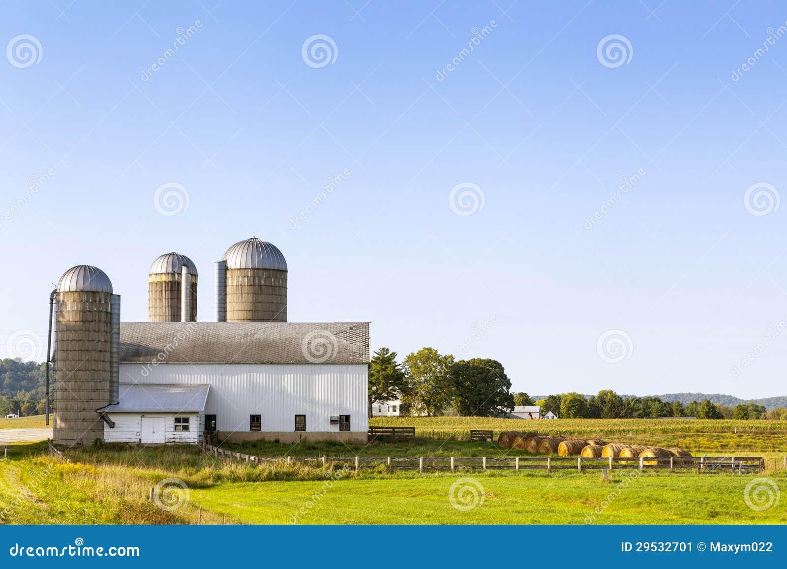 Exploração agrícola branca americana tradicional