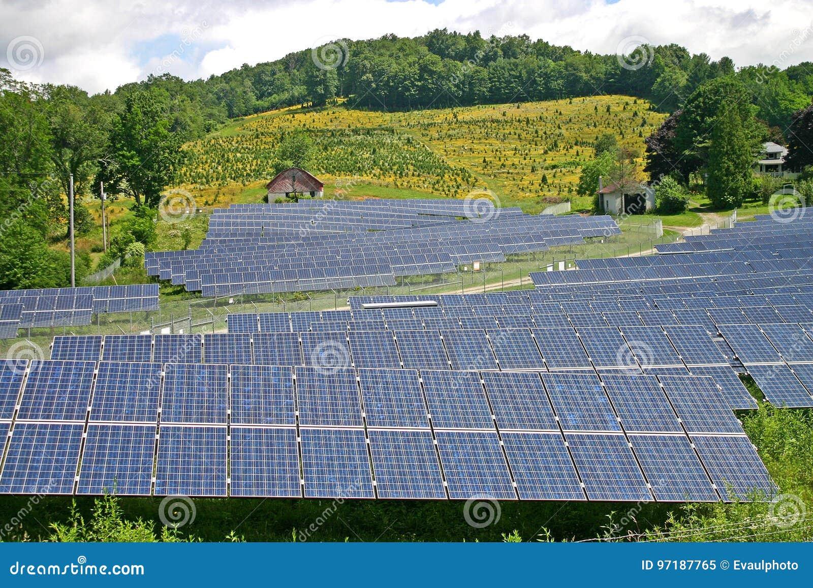 Exploração agrícola solar do país