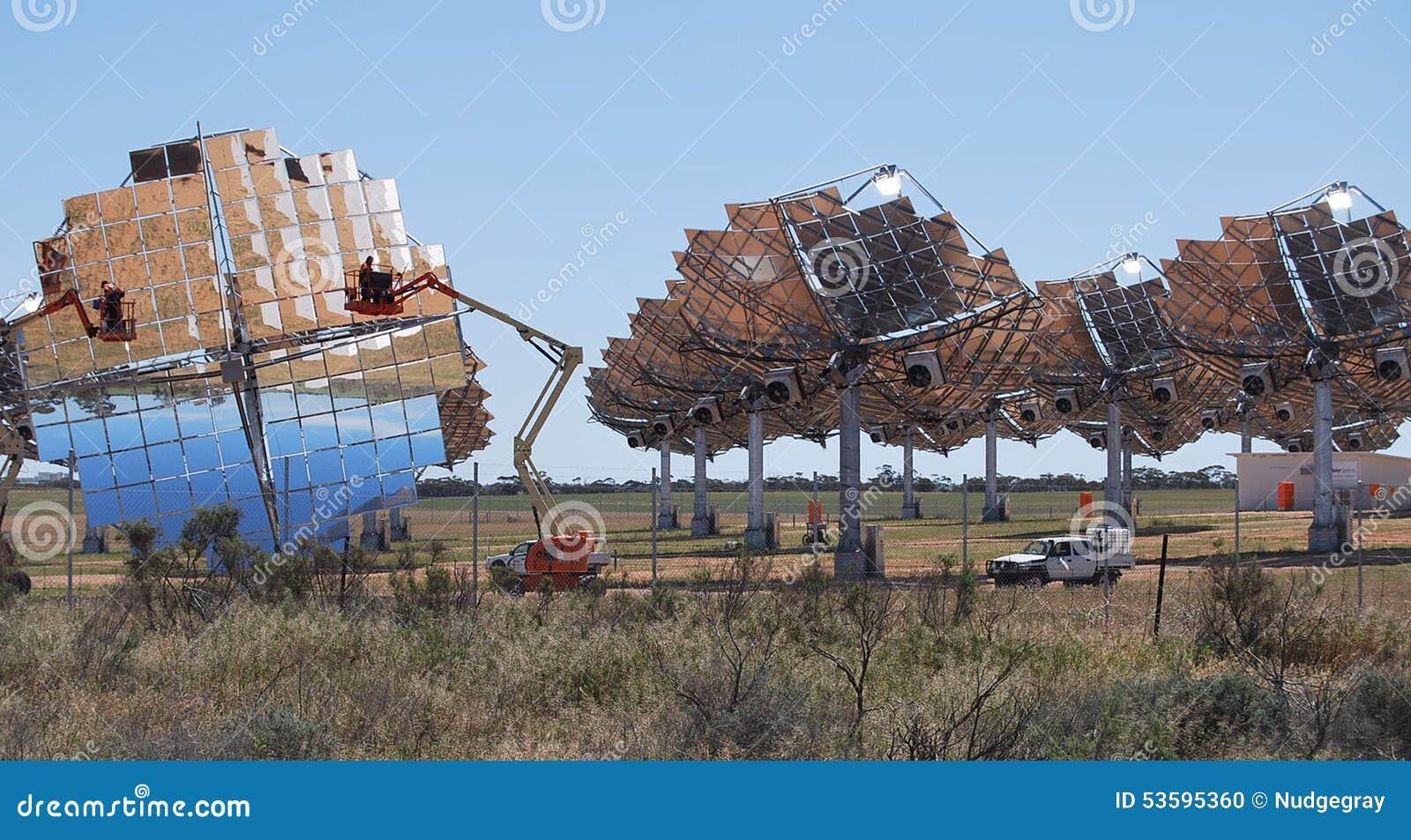 Exploração agrícola solar que limpa Carwarp Austrália