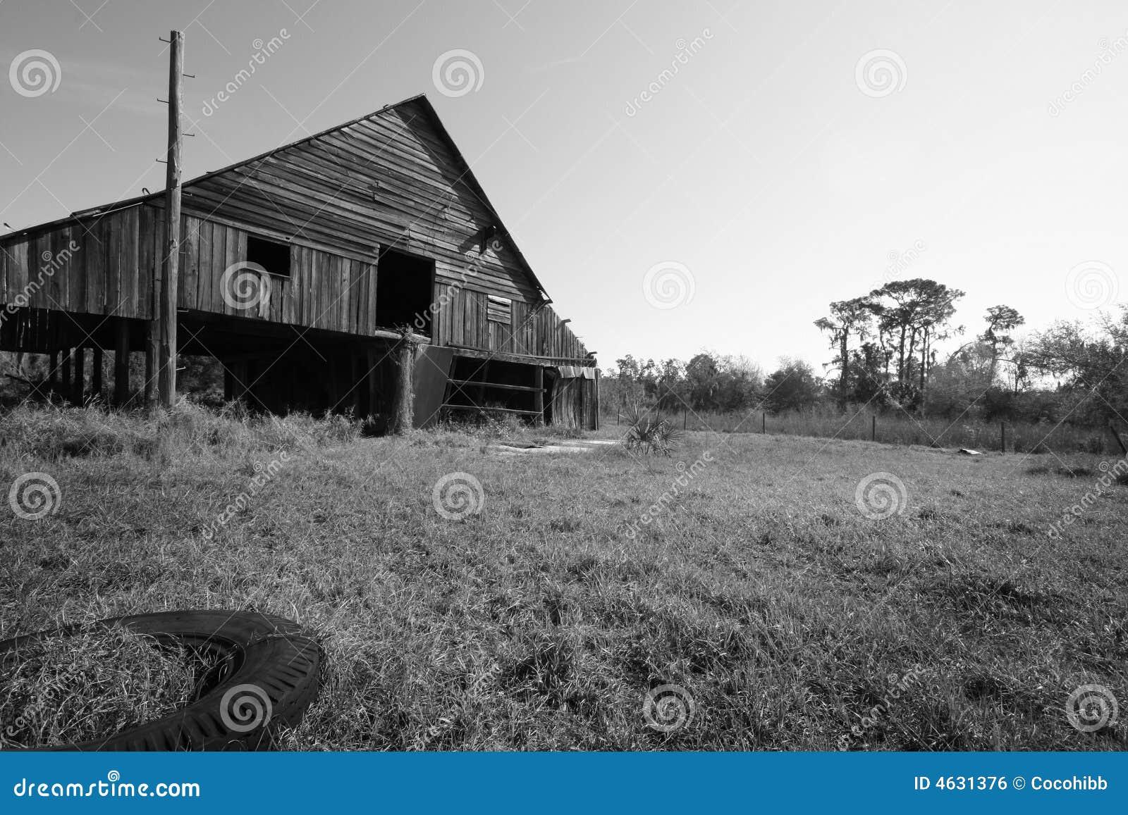 Exploração agrícola velha de Florida