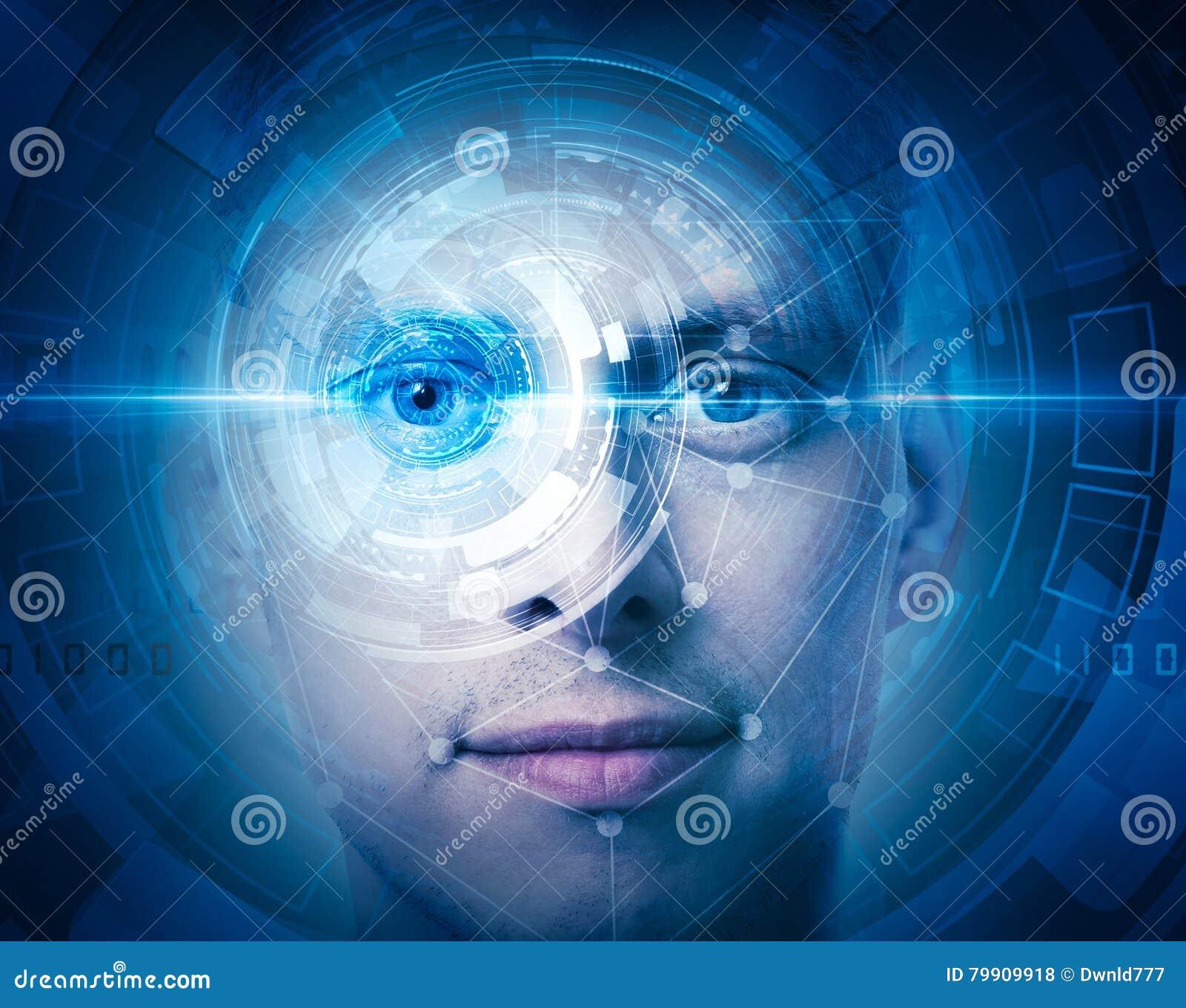 Exploración de alta tecnología de la cara
