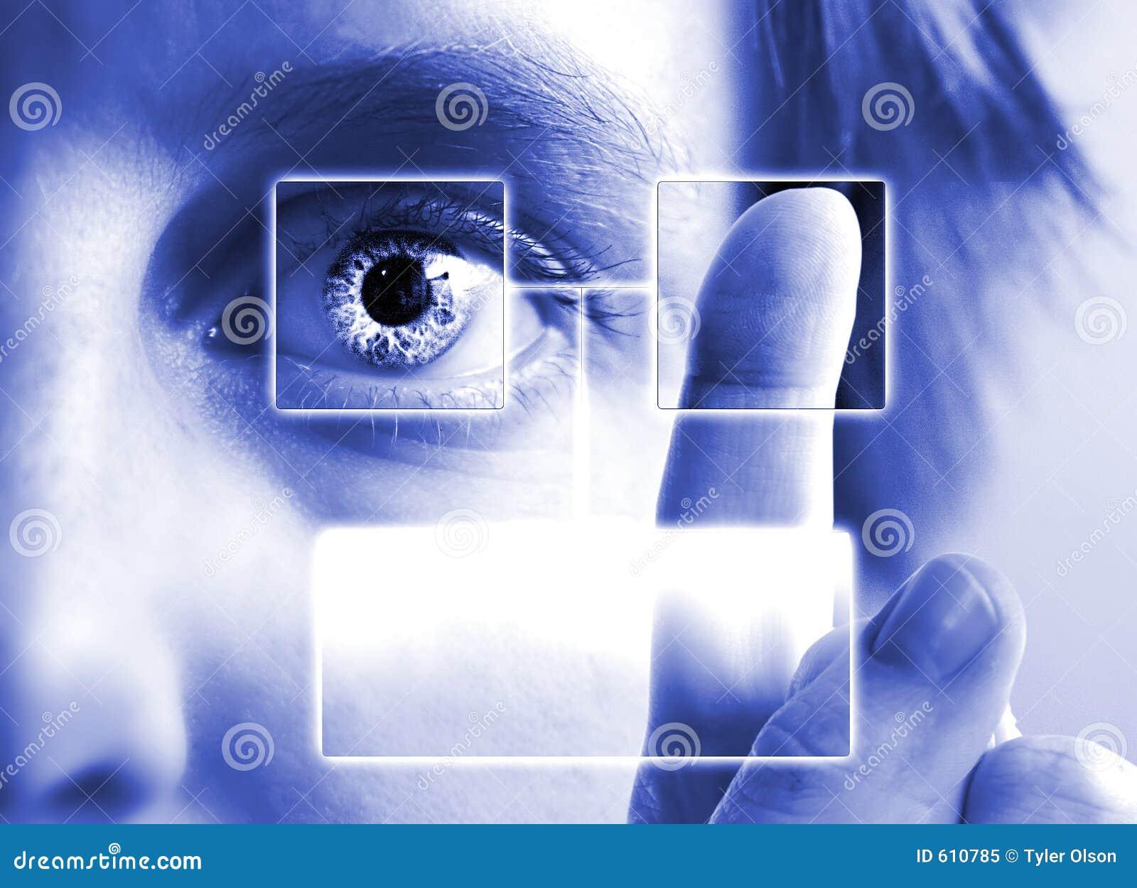 Exploración del diafragma de la huella digital