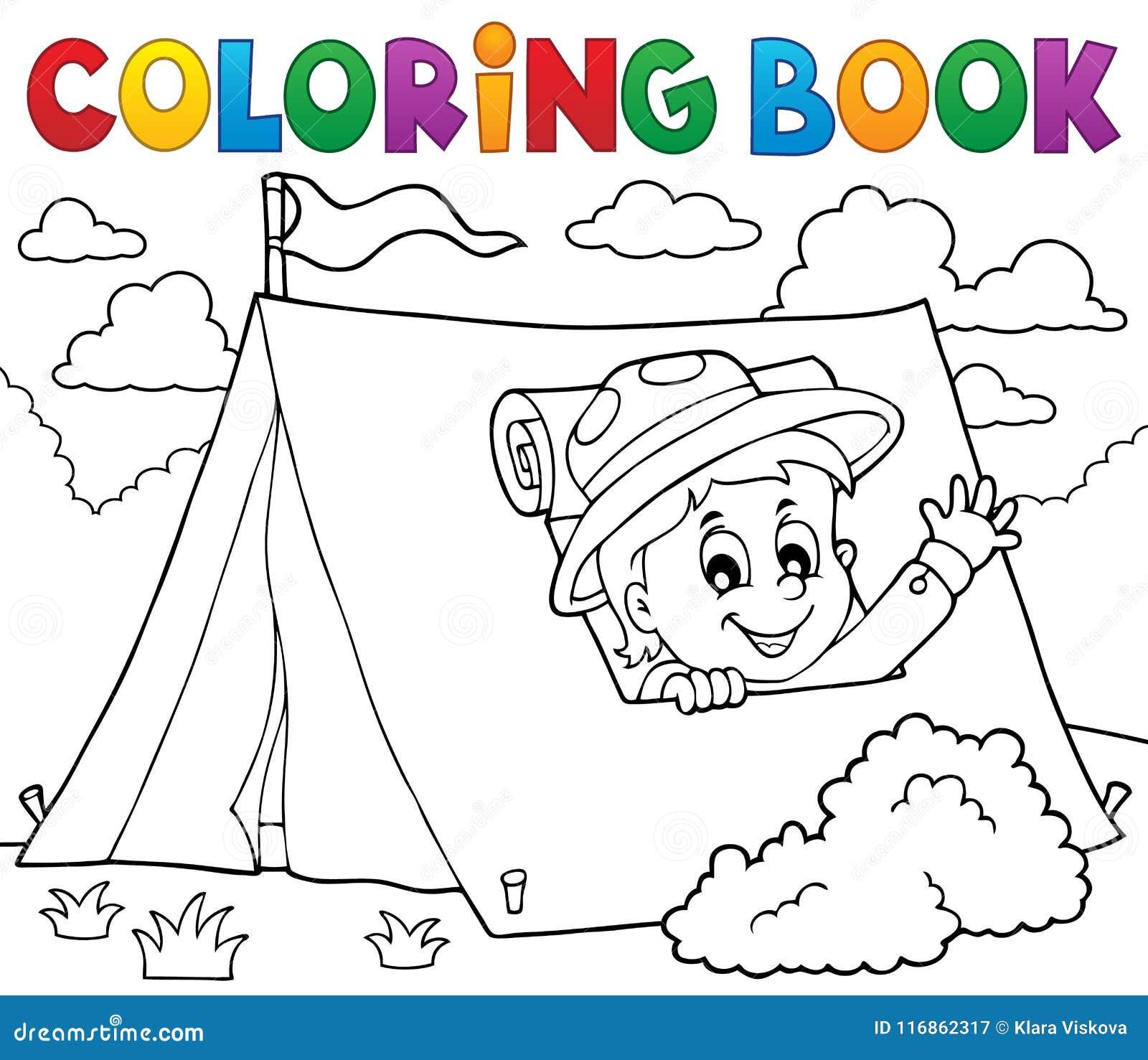 Explorador Del Libro De Colorear En El Tema 1 De La Tienda ...