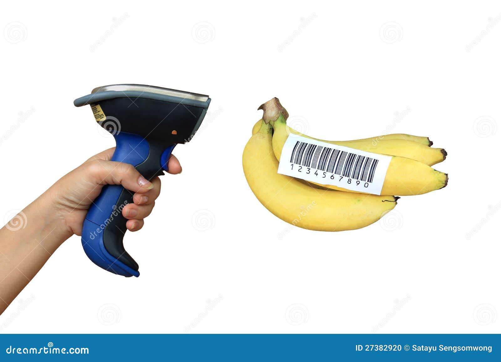 Explorador y plátano del código de barras de Buletooth
