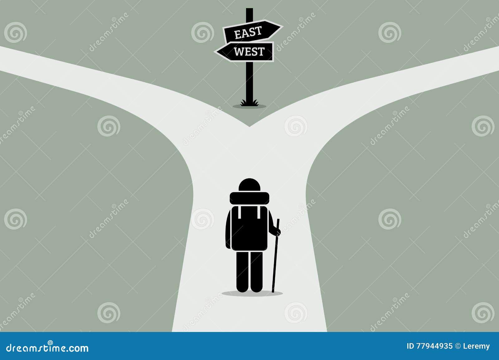 Explorateur atteignant une route de fente