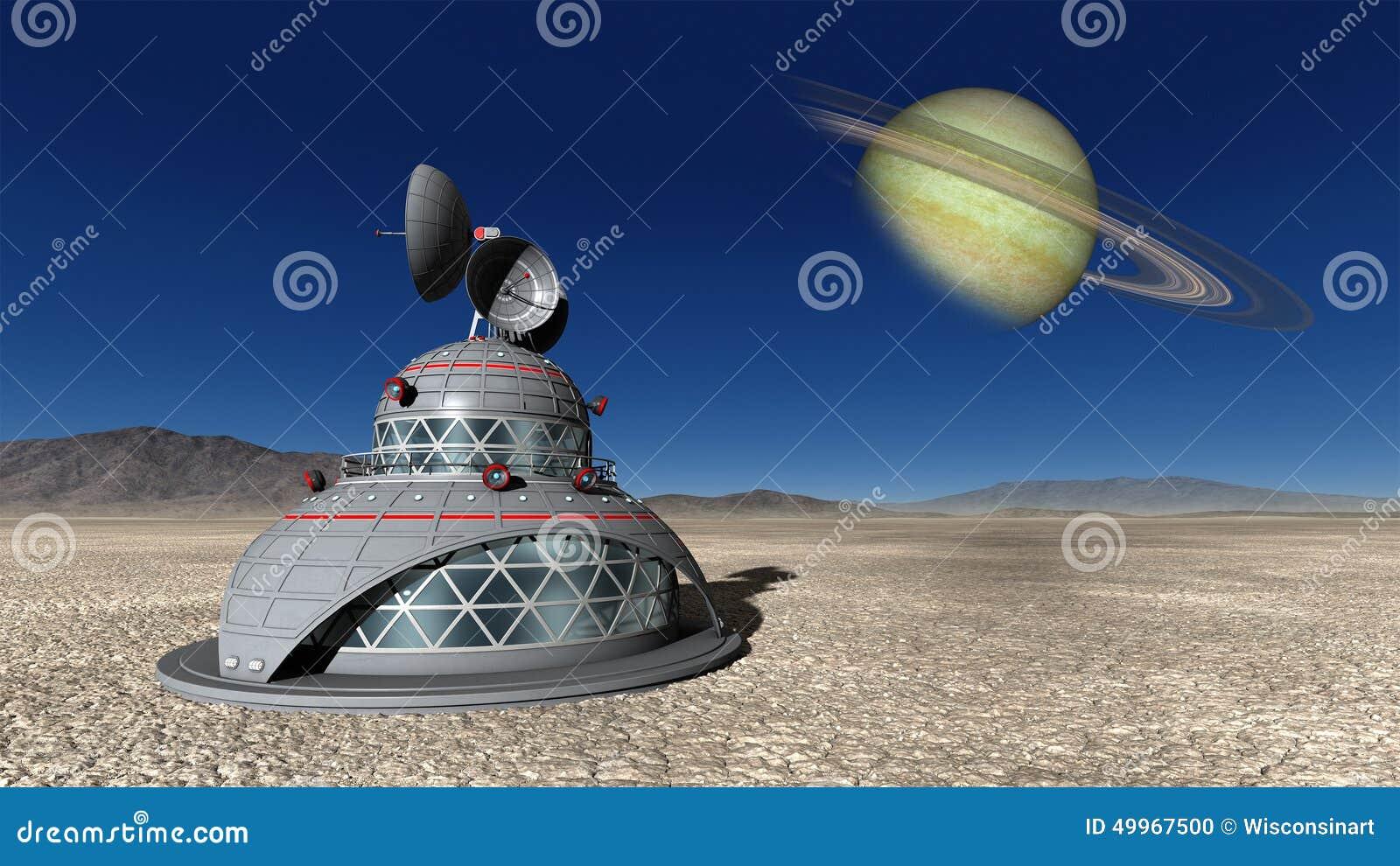 Exploration d espace Illustraion bas lunaire