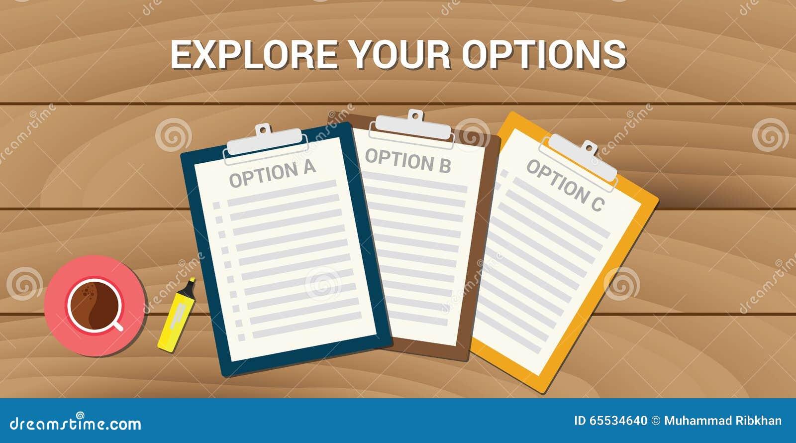 Explorez votre choix de problème commercial d options