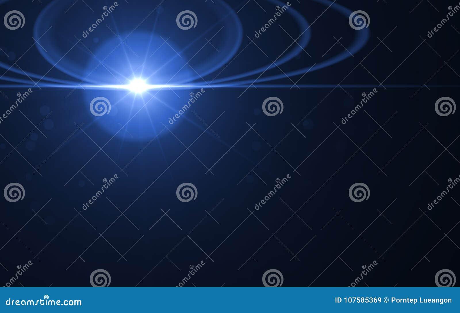 Explosão abstrata do sol com fundo digital do alargamento da lente D abstrato
