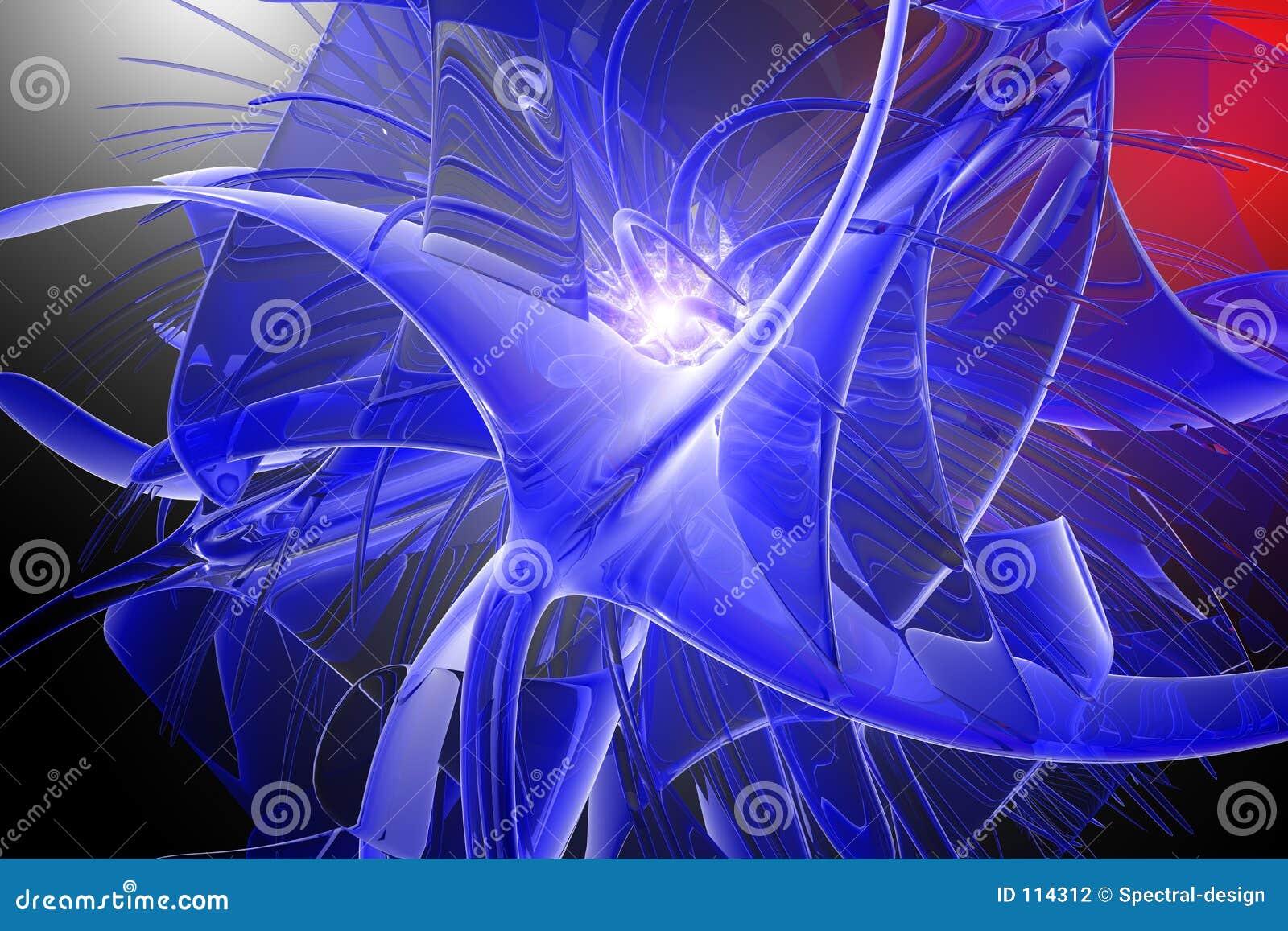 Explosão azul do gel