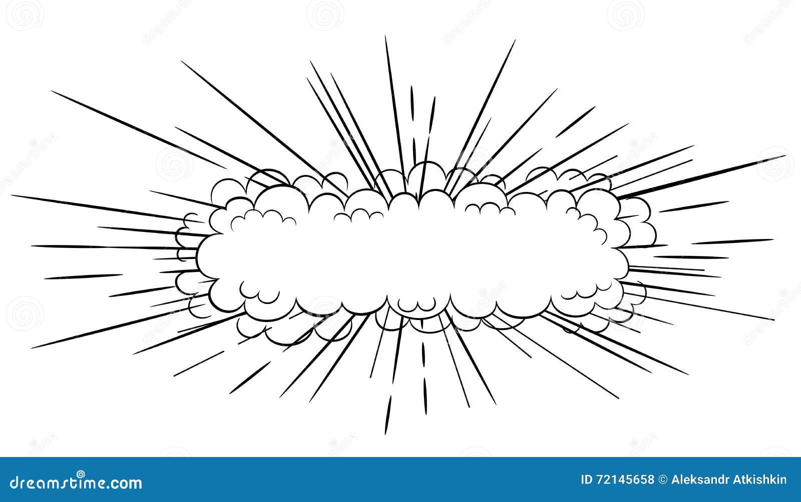 Explosao Comica Do Estilo Ilustracao Do Vetor Ilustracao De