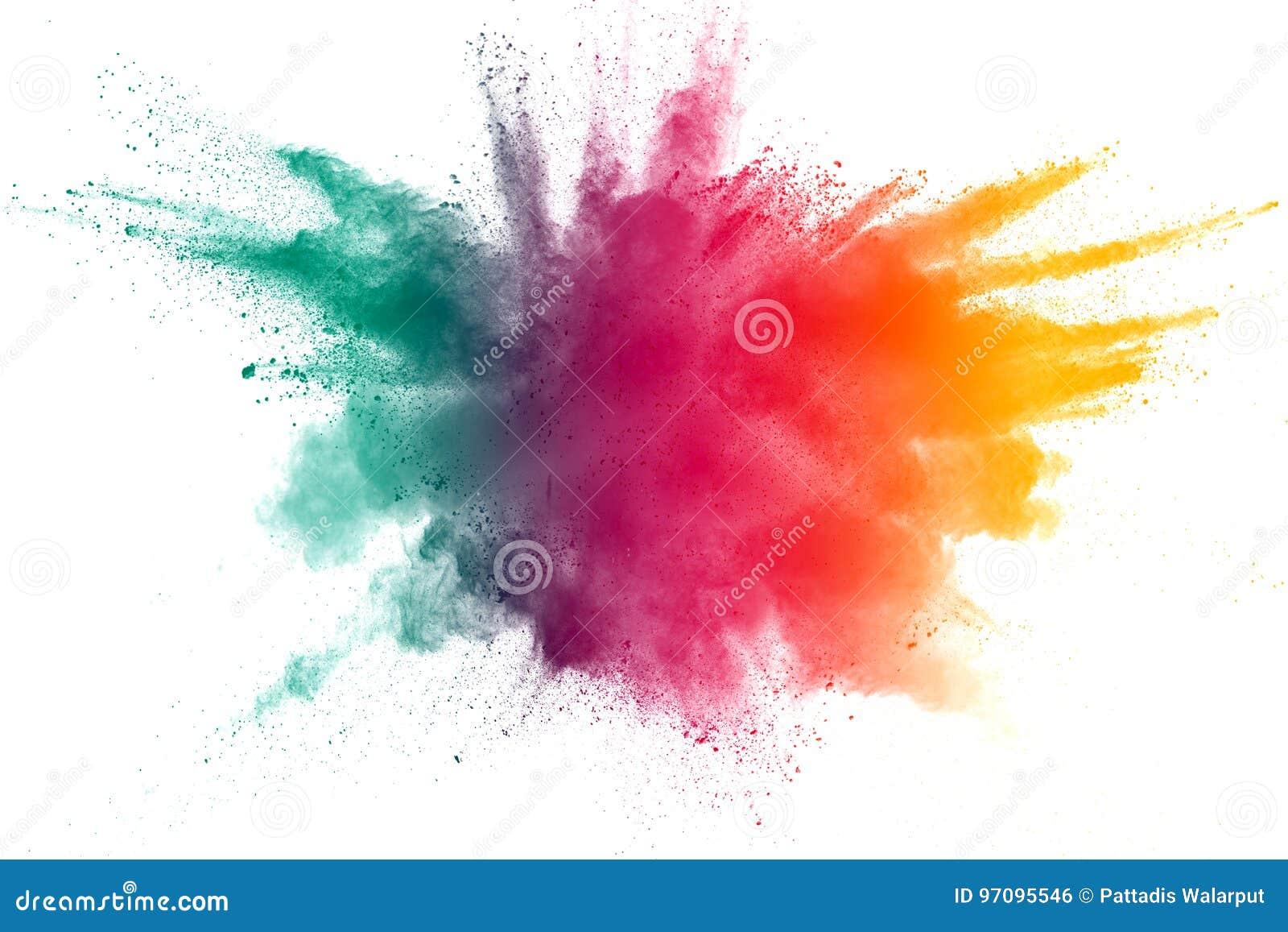 Explosão do pó da cor