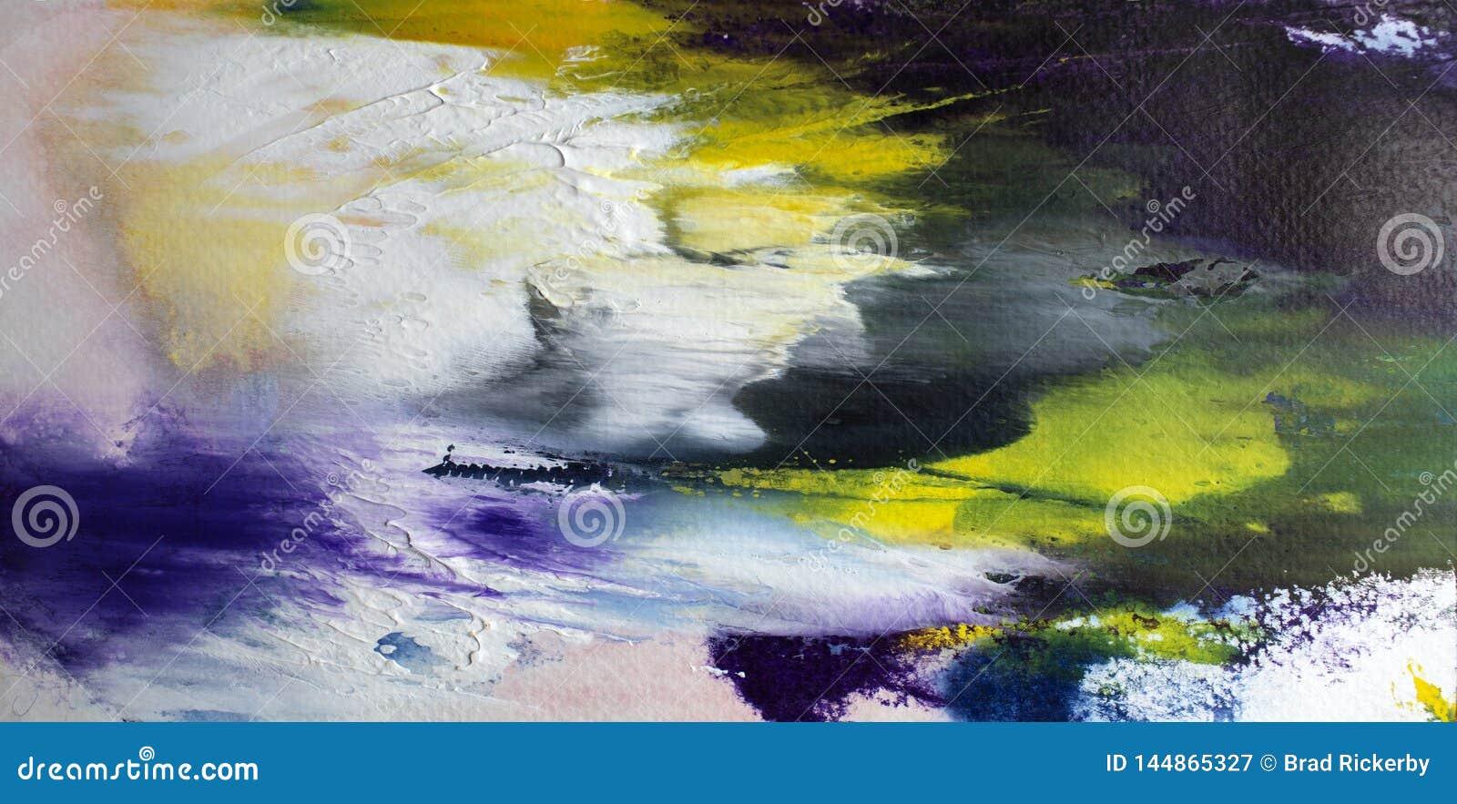Explosão moderna acrílica do ywhite da arte contemporânea do sumário