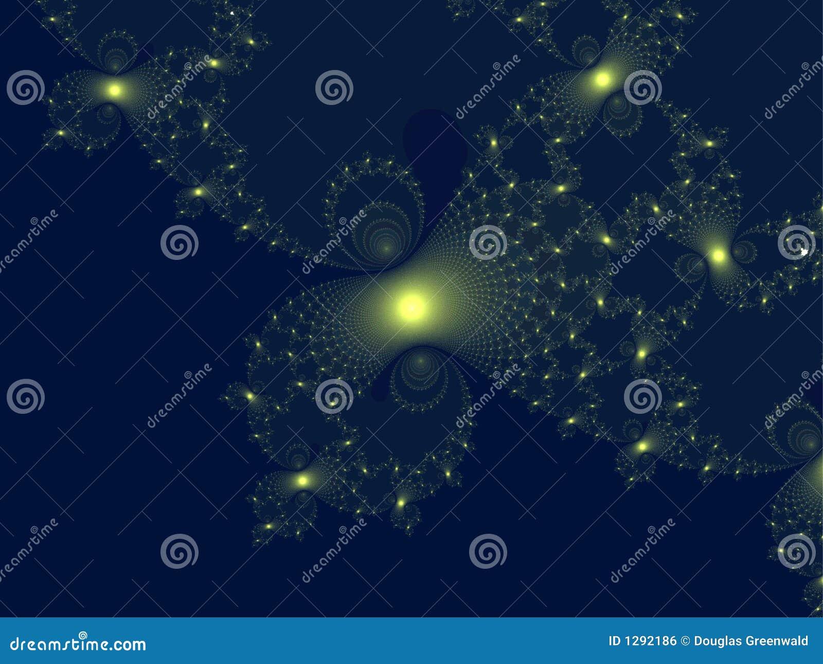 Explosión amarilla del fractal