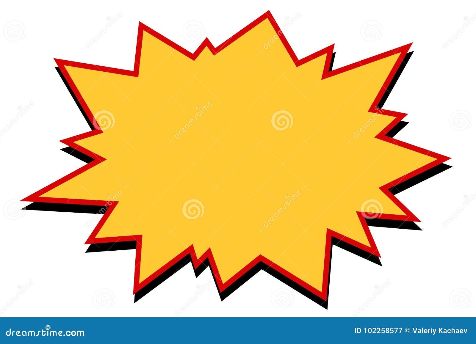 Explosión cómica del amarillo