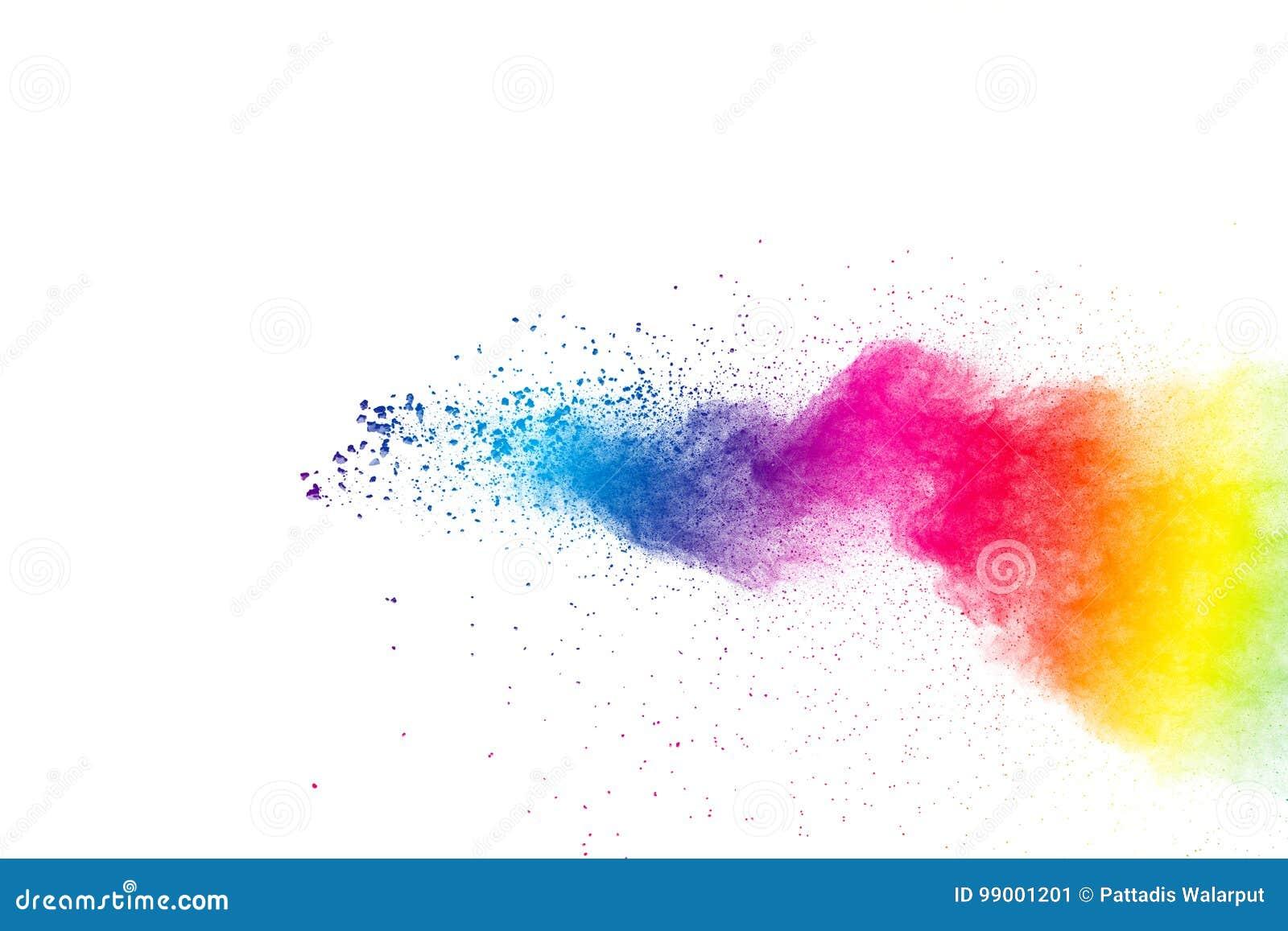 Explosión coloreada multi abstracta del polvo