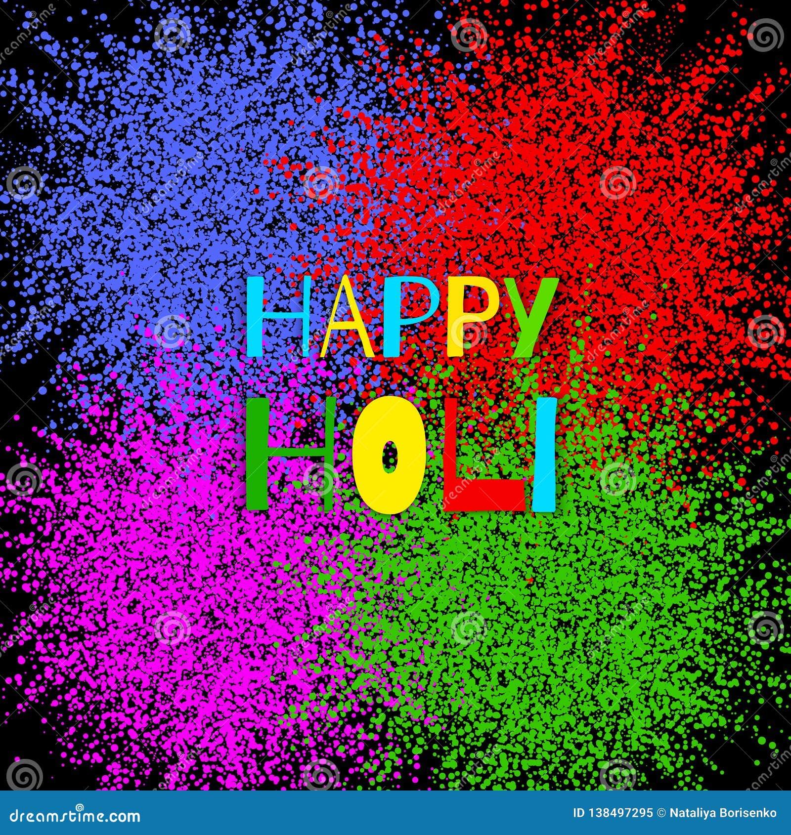 Explosión colorida para Holi feliz Ejemplo del fondo feliz colorido abstracto de Holi Festival indio de colores