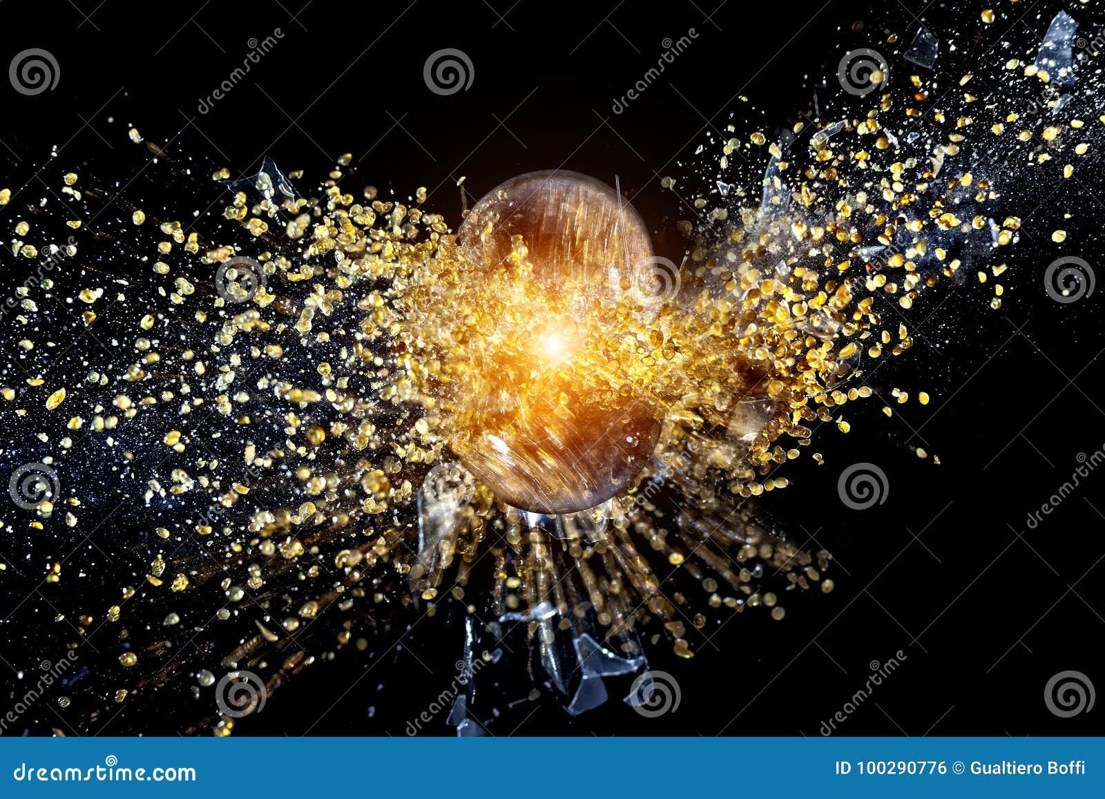 Explosión de la bola en negro