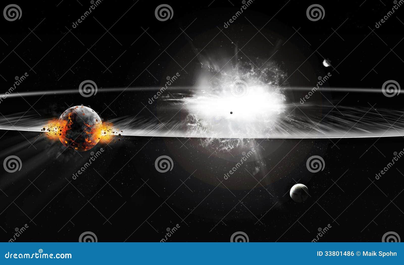 Explosión en universo