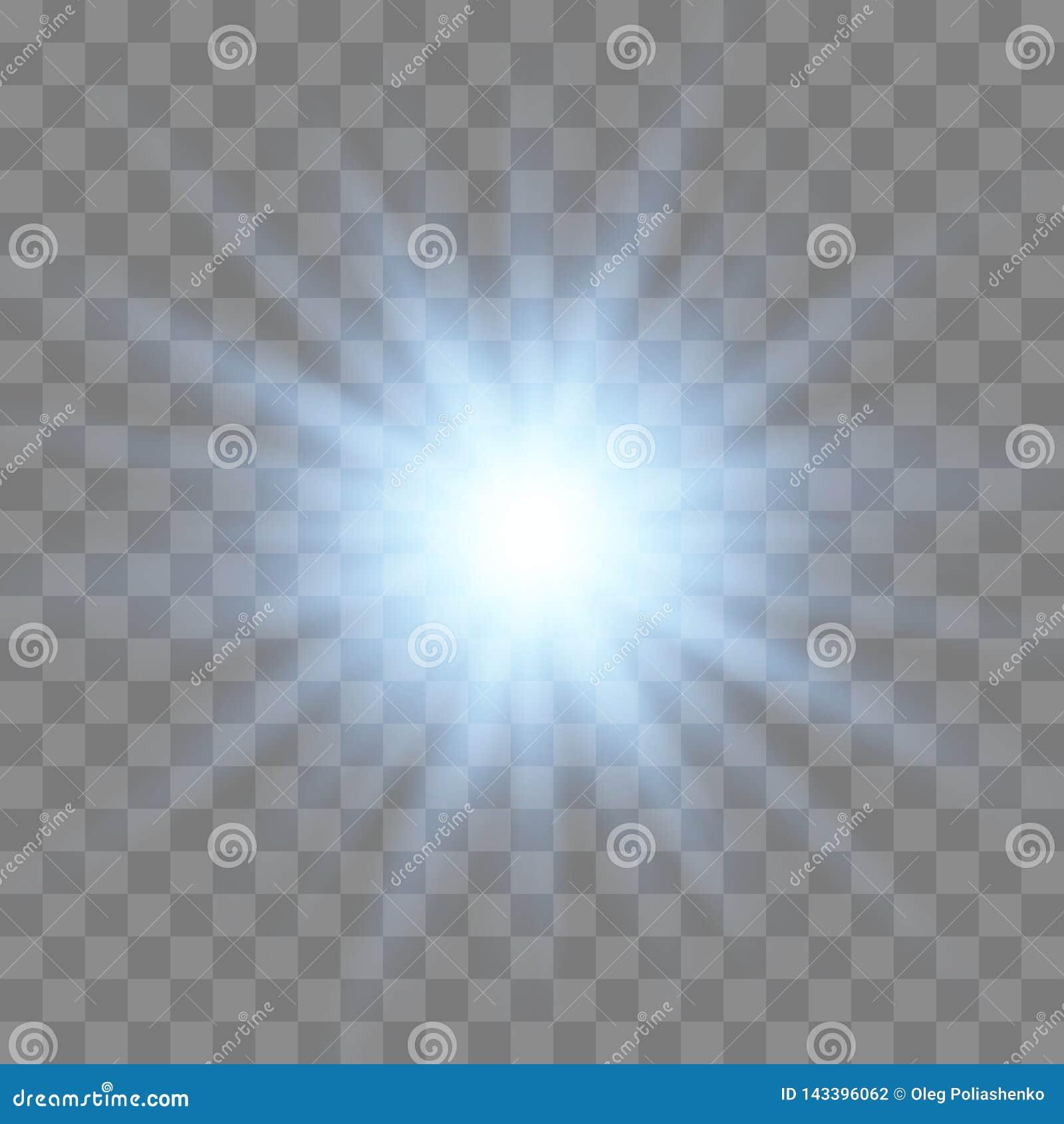 Explosi?n ligera blanca de la explosi?n que brilla intensamente