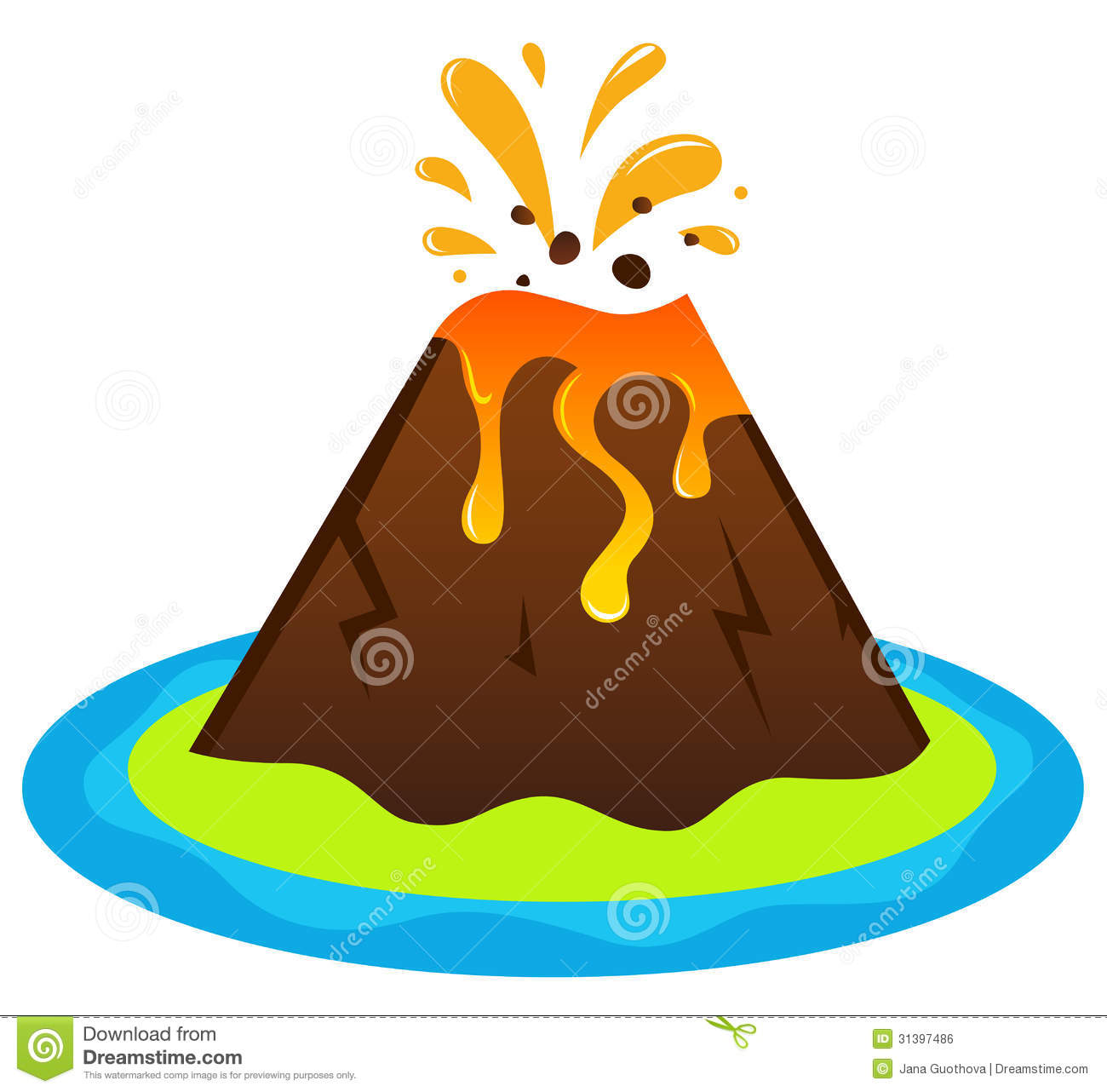 Volcano Erupting Stock Photo