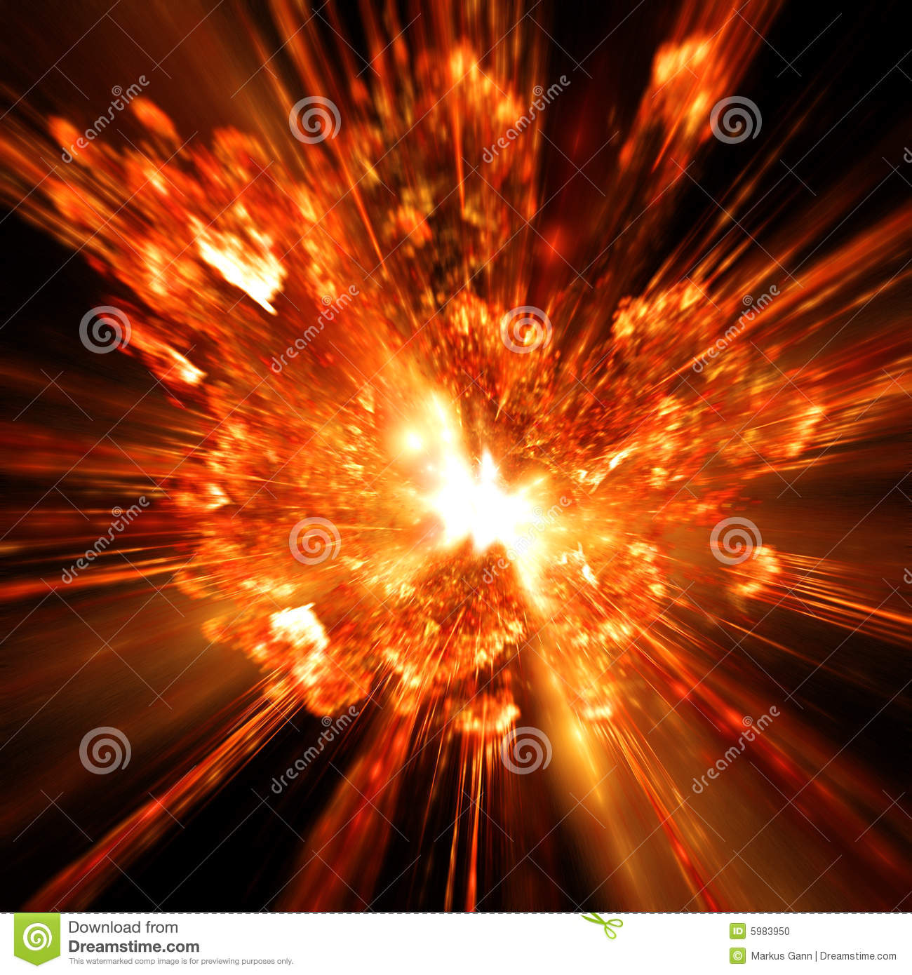 An illustration of a hot firework explosion.