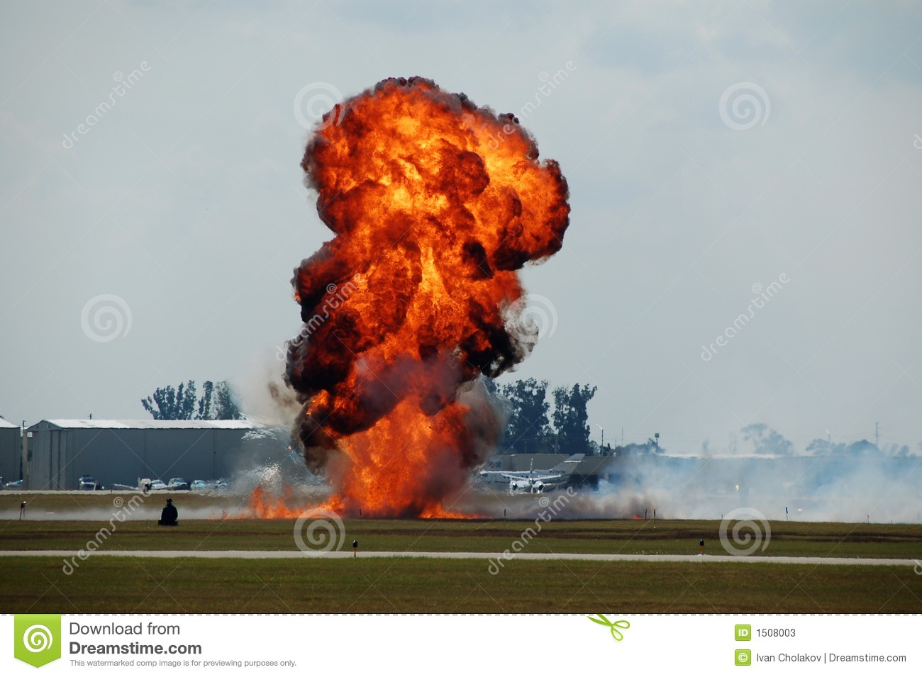 Explosion At Airport Stock Photos Image 1508003