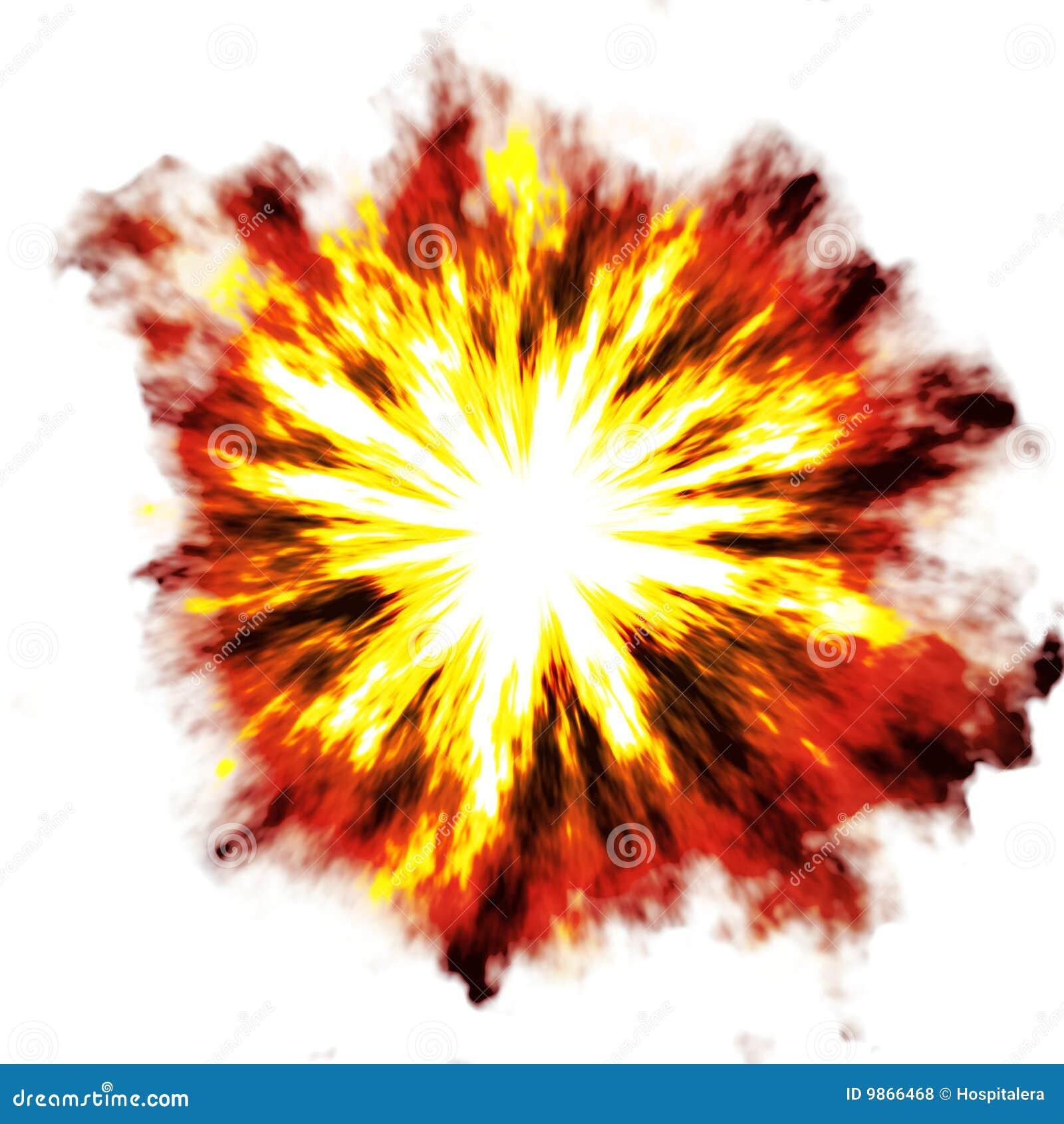 Explosion Au Dessus De Blanc Photos Libres De Droits