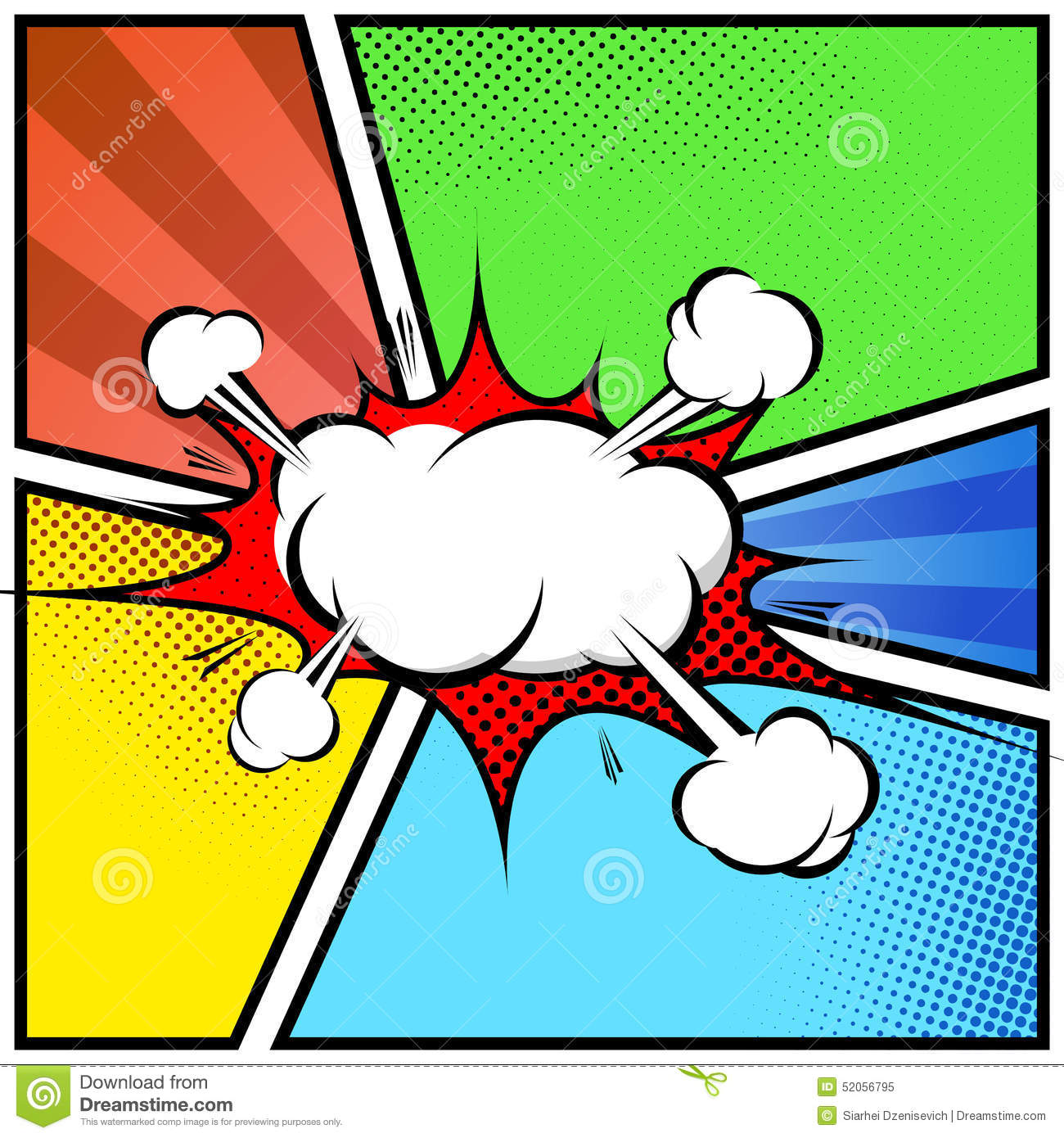 Explosion cloud abstract comic book style frame page template explosion cloud abstract comic book style frame page template toneelgroepblik Gallery