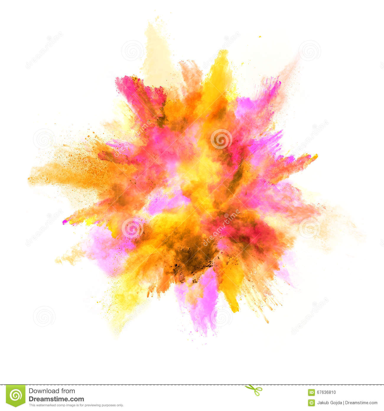 Explosion Of Co... Explosion White Background