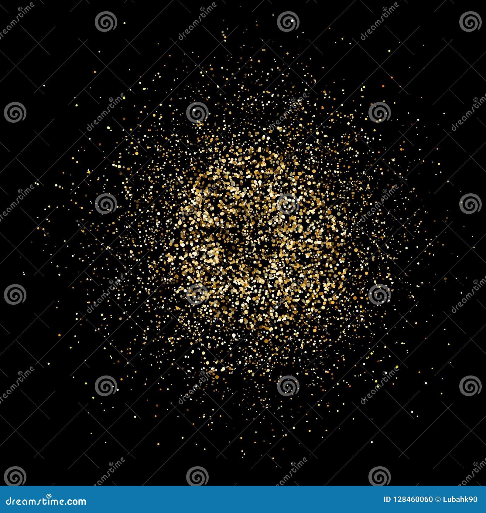 Explosion d or de scintillement Éclaboussure lumineuse de la poussière Éclaboussure de particules de scintillement d or Feu d art