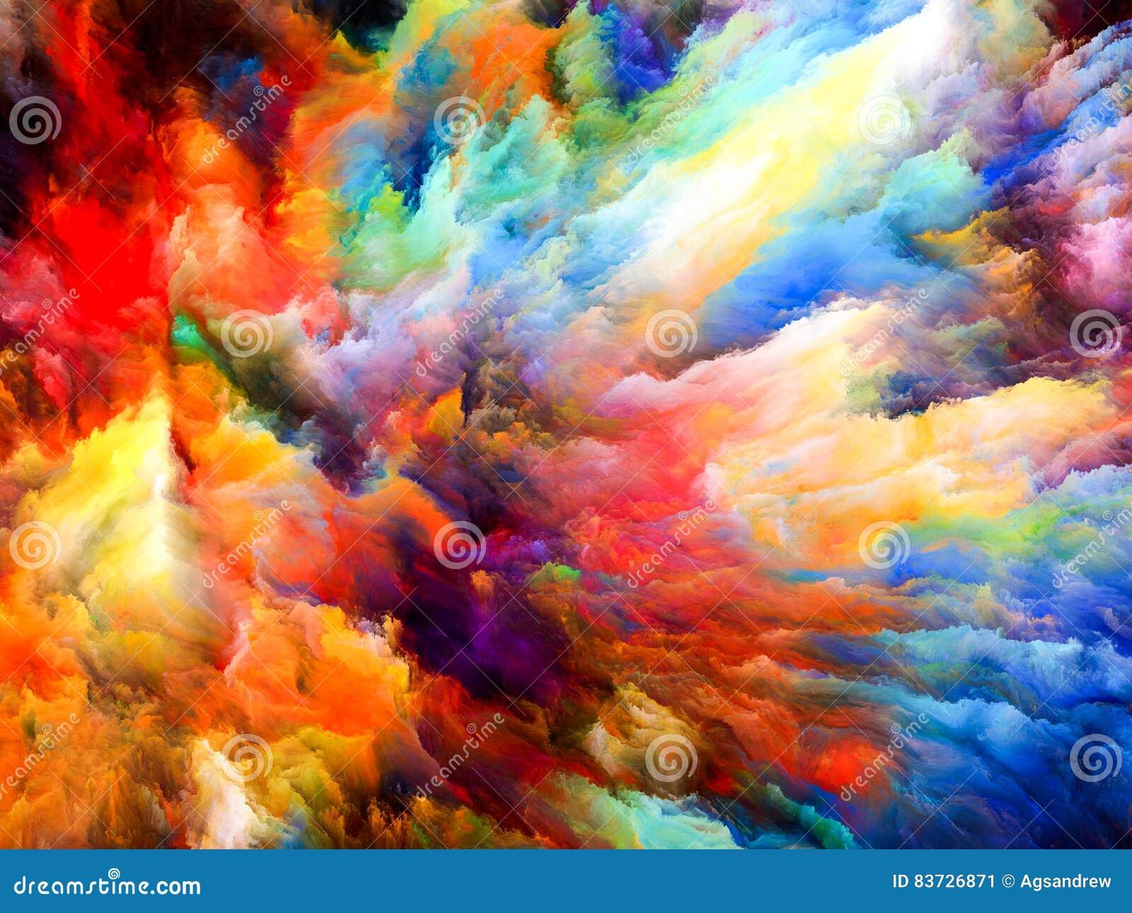 Explosion de couleur illustration stock. Illustration du palette