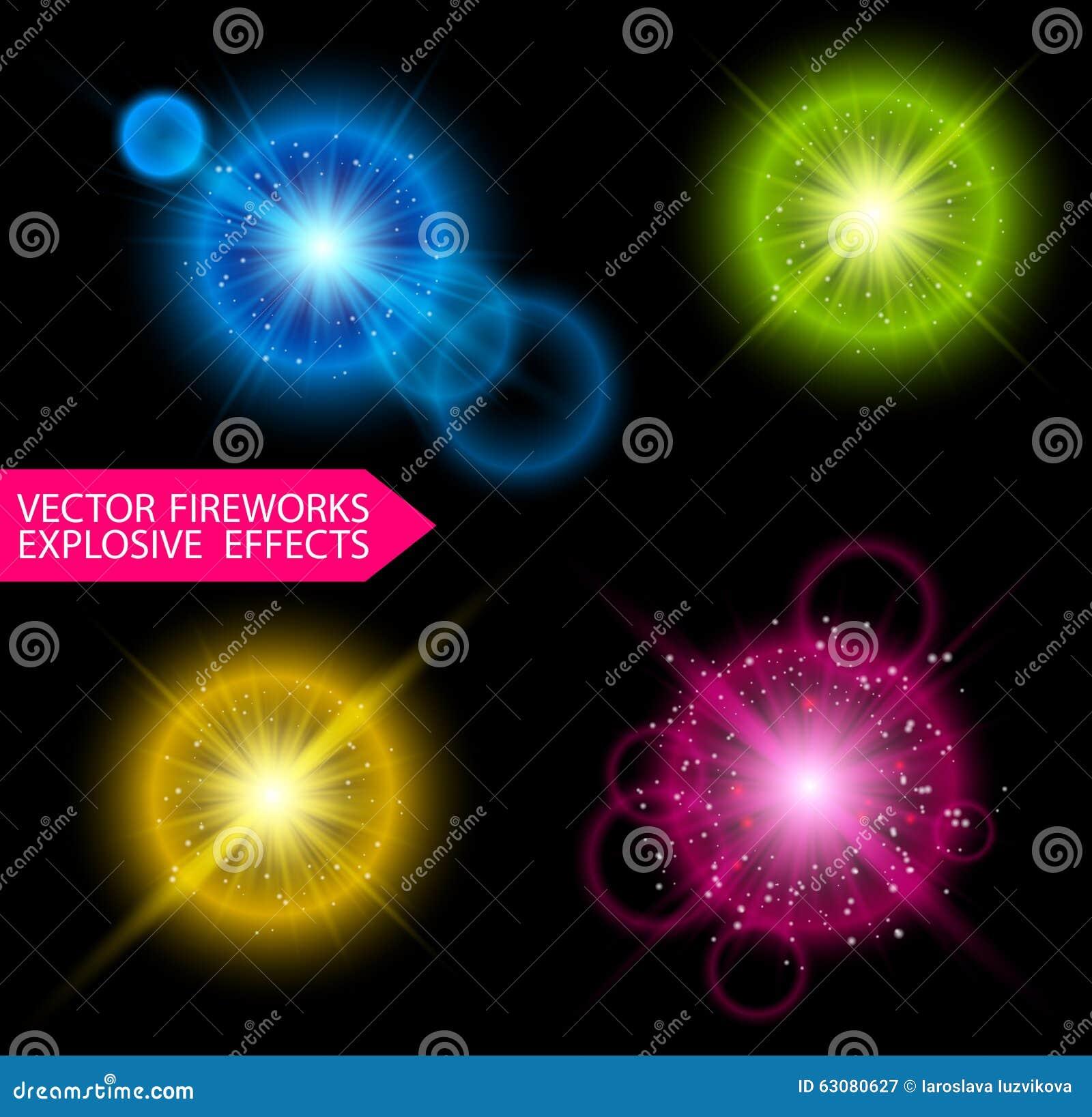 Download Explosion De Feux D'artifice De Vecteur Illustration de Vecteur - Illustration du éclatez, illuminé: 63080627