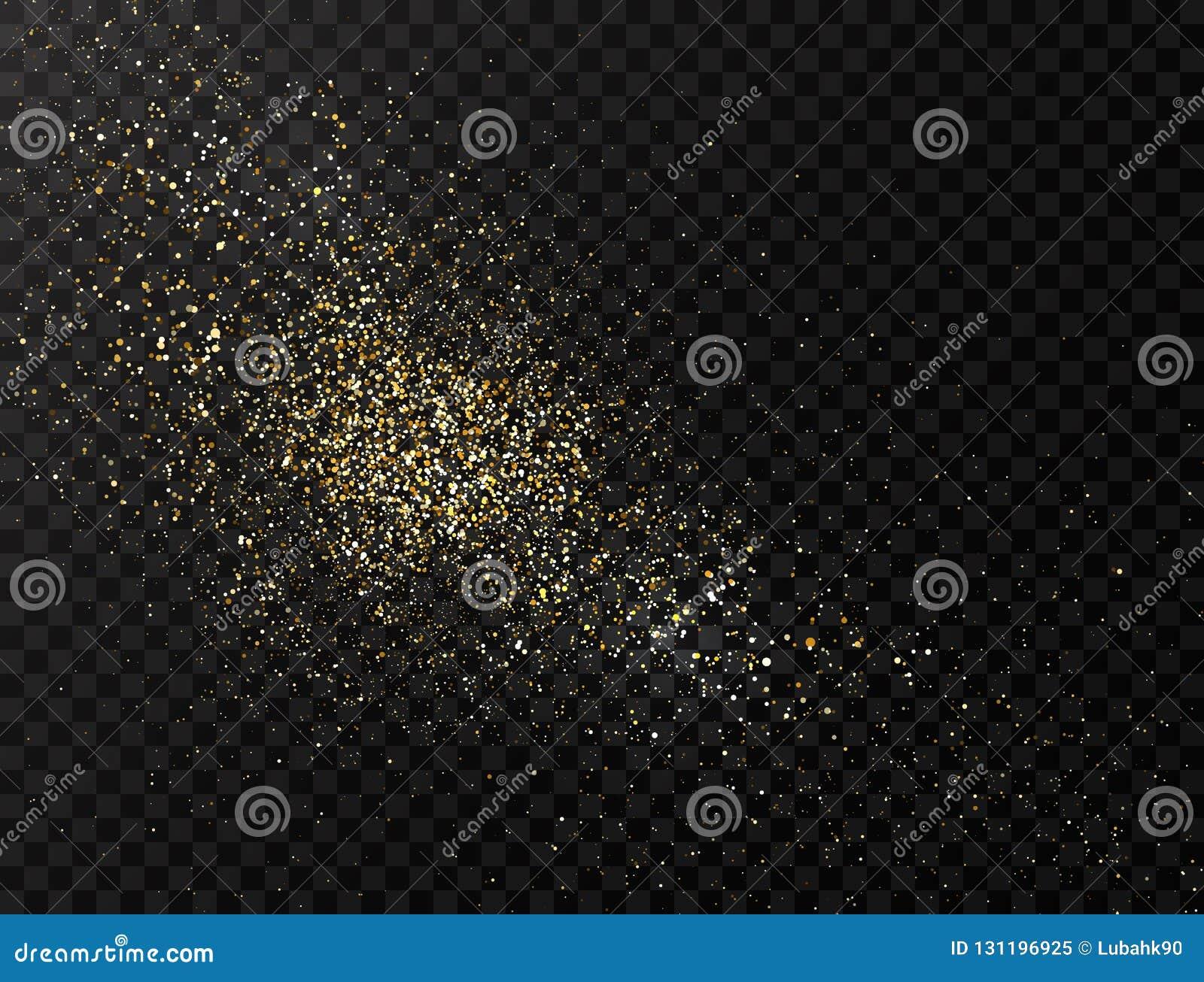 Explosion de poudre de scintillement d or de la poussière de scintillement Fond de la poussière d étoile Les particules d or écla