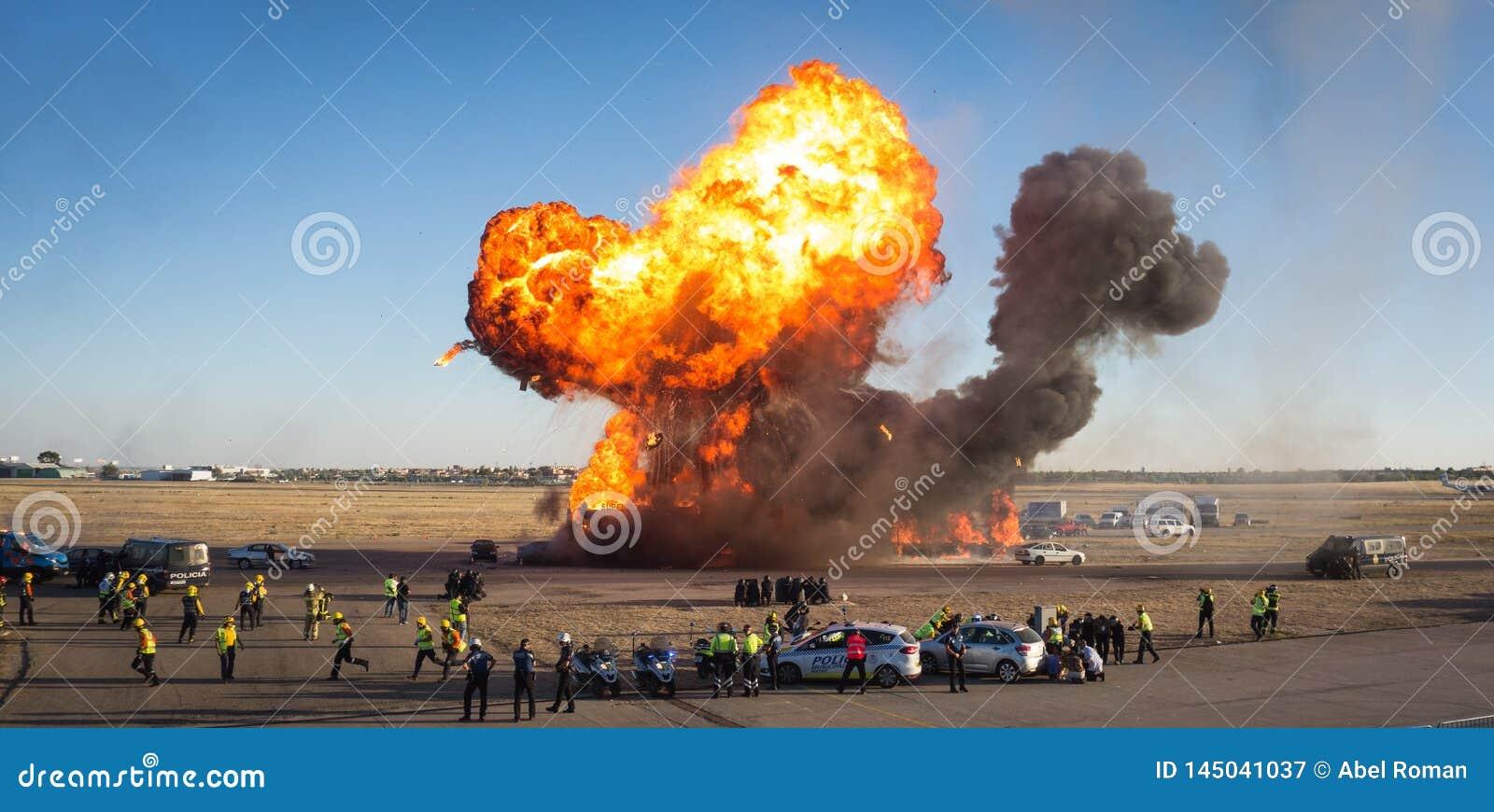 Explosion in einem Notabbild