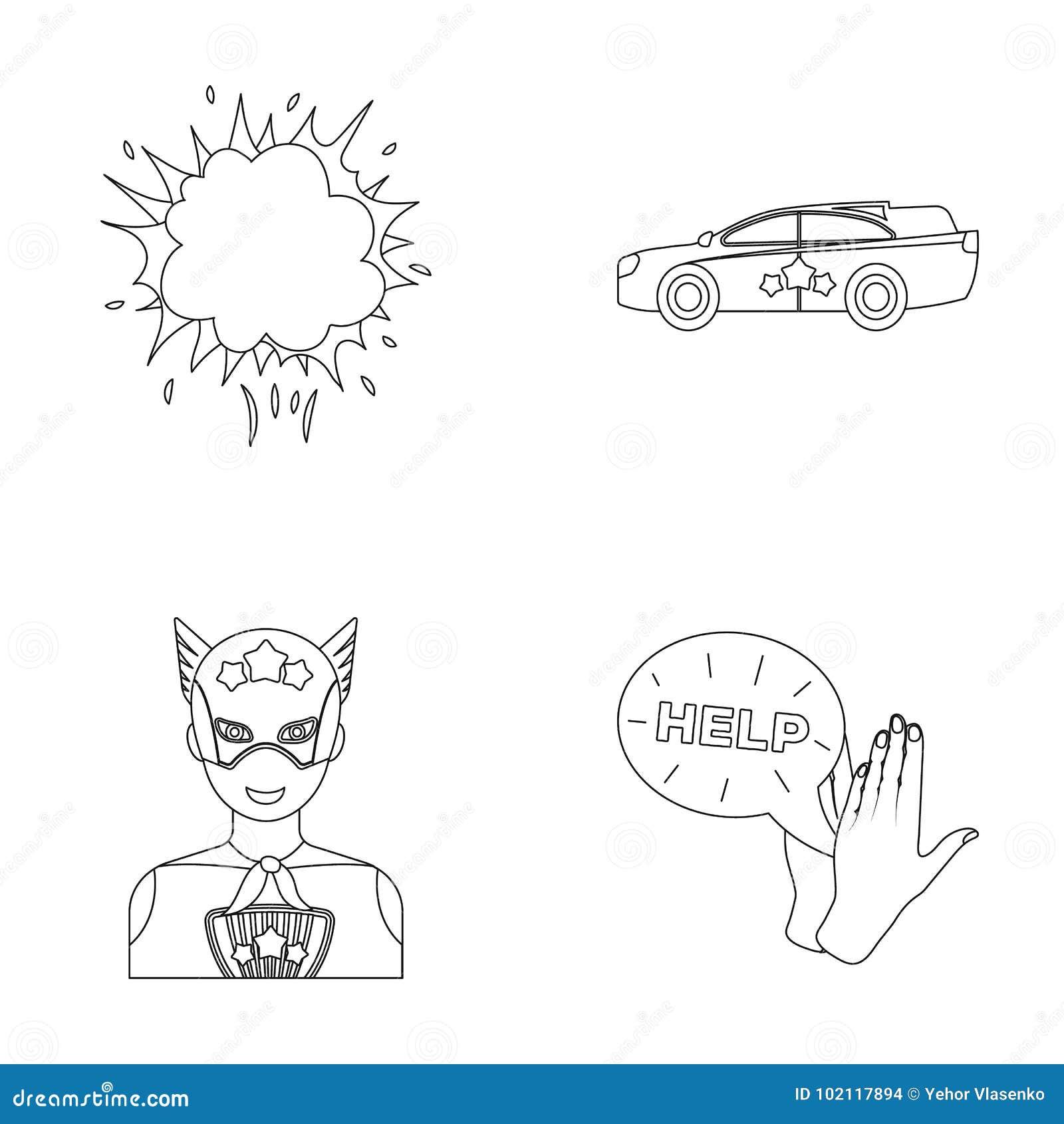 Explosion, feu, fumée et toute autre icône de Web dans le style d ensemble Superman, superforce, cri, icônes dans la collection d