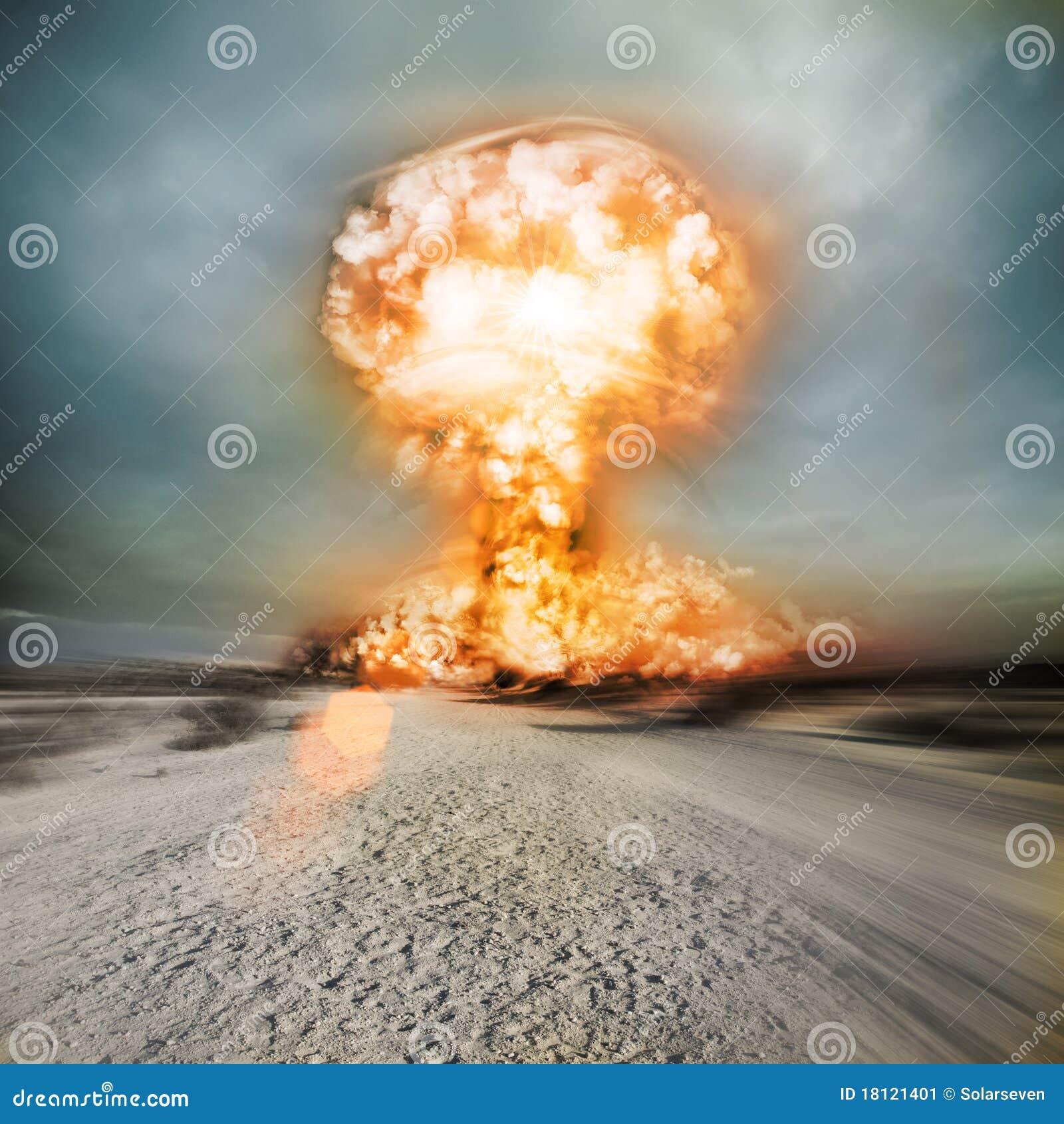 Une explosion muclear moderne de panne dans le désert