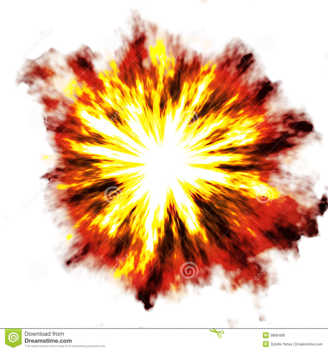 Explosion Over ... Explosion White Background
