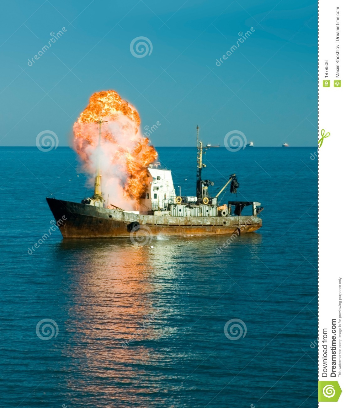 Explosion Of The Ship Royalty Free Stock Image - Image: 1878506