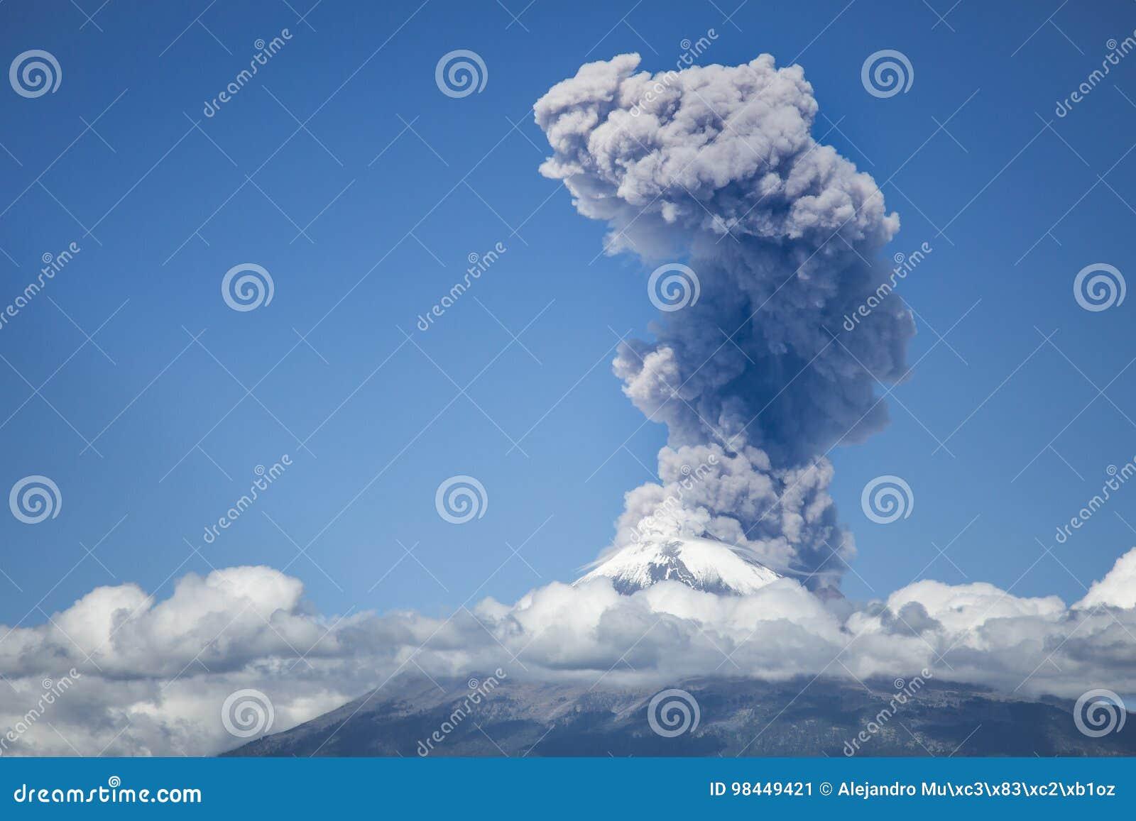 Explosion von popocatepetl Vulkan