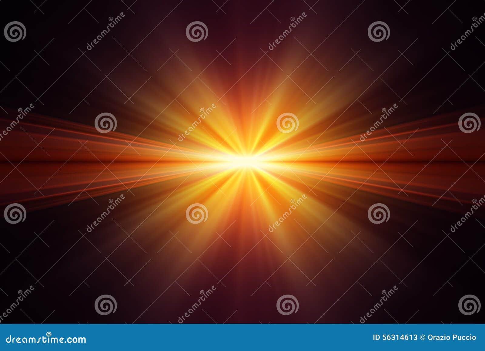 Explosion Of Yellow Light On Black Background Stock Image - Image ... for Yellow Light Rays Background  110zmd